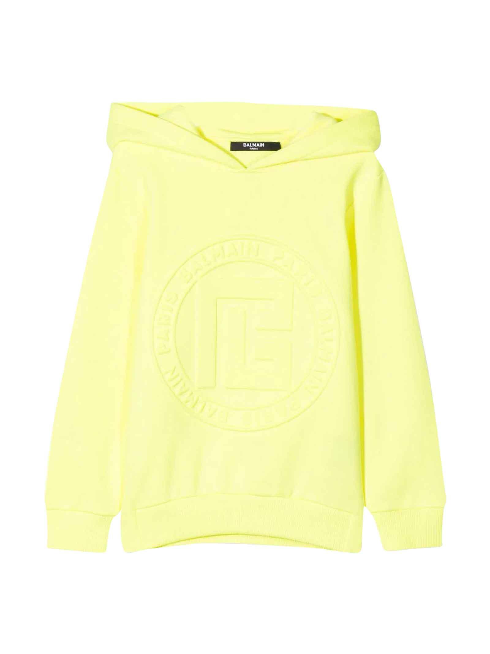 Balmain Kids' Unisex Yellow Sweatshirt In Gialla