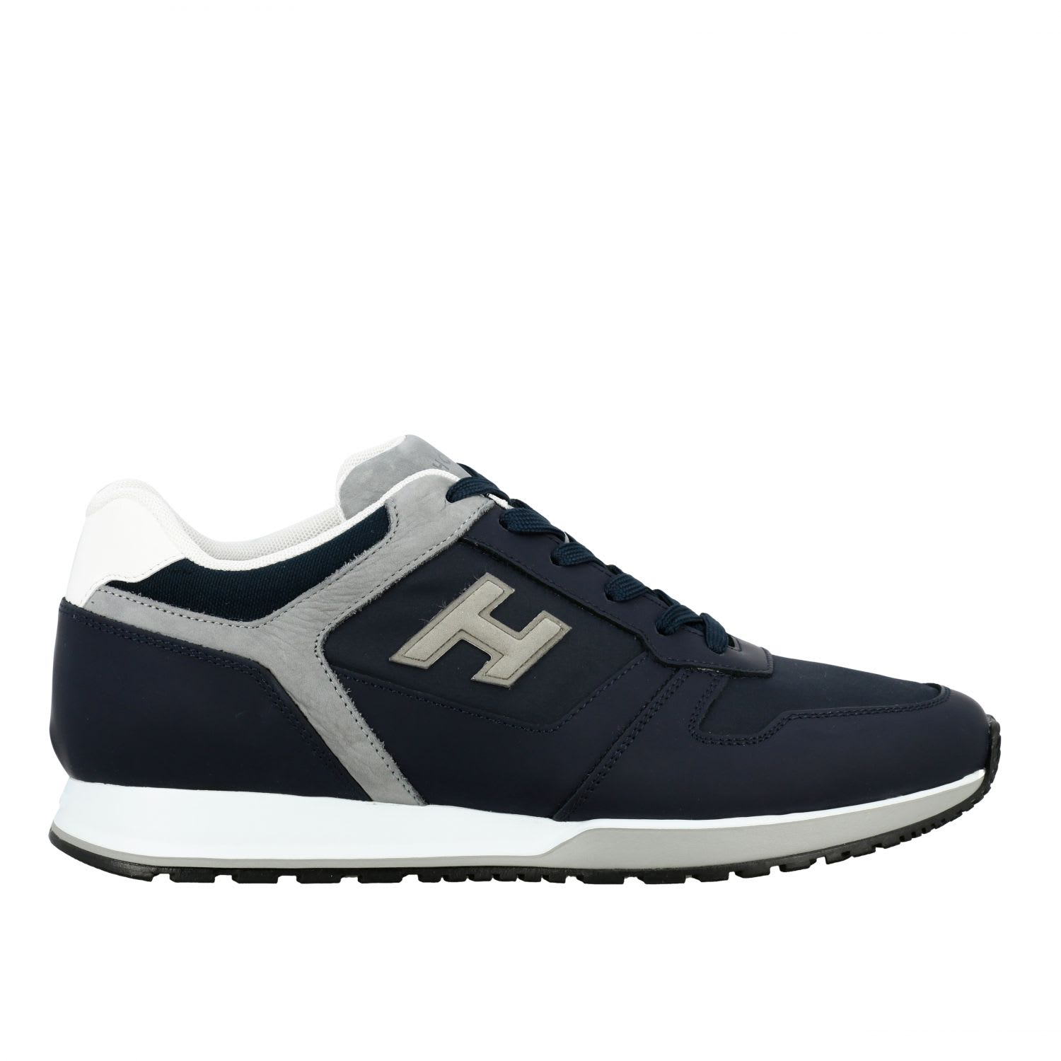 Hogan Sneakers Hogan 321 Running Sneakers In Nylon And Leather With Flock H