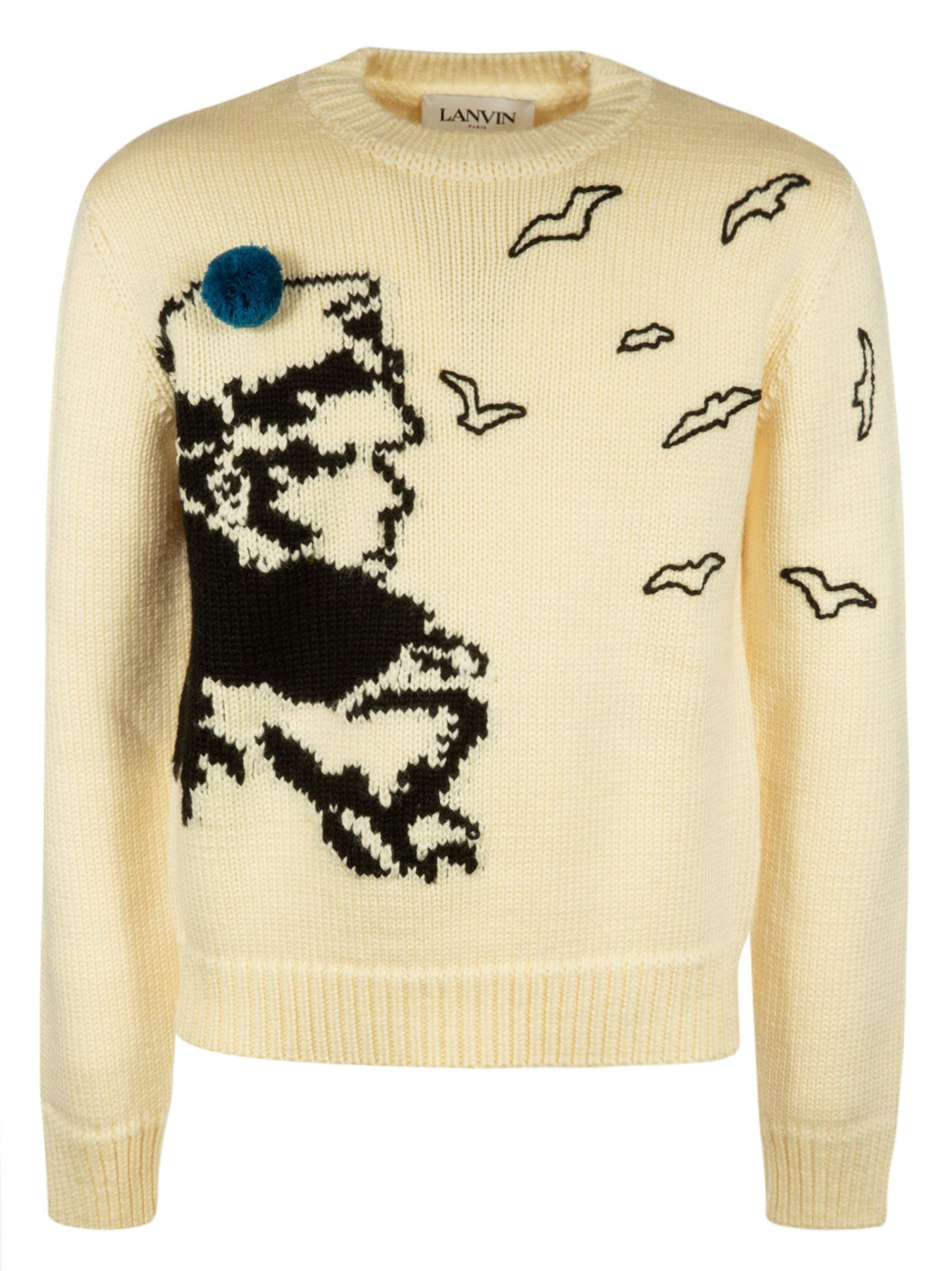 Lanvin Knit Embroidered Sweater