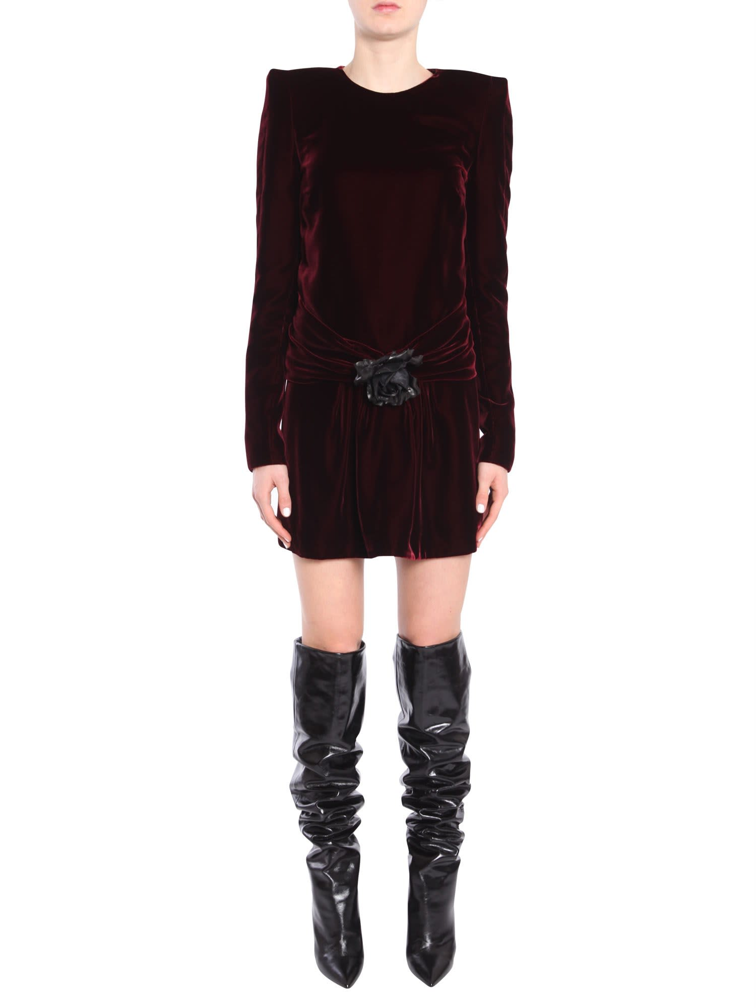 Saint Laurent Long-sleeved Minidress