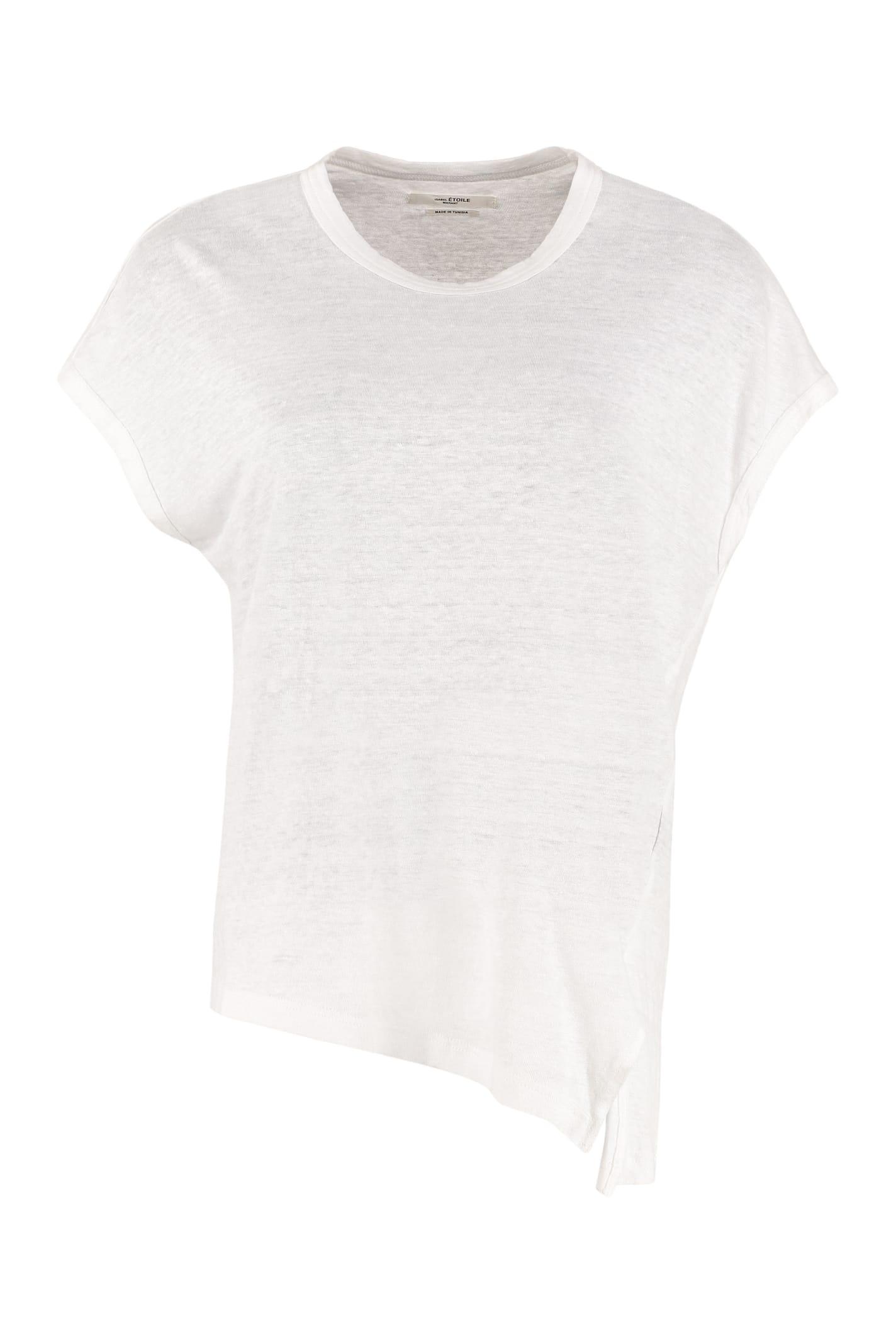 Etoile Isabel Marant T-shirts KELLA LINEN T-SHIRT