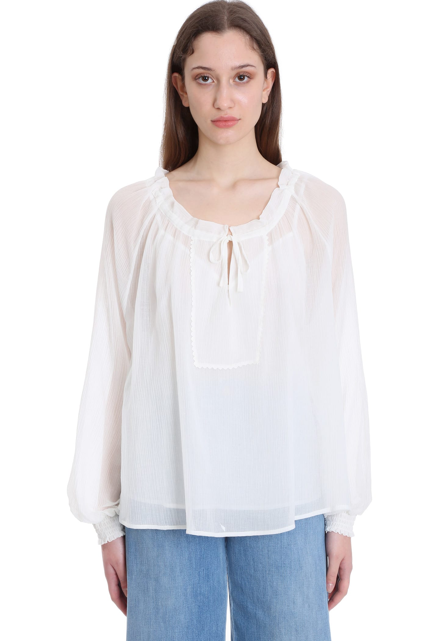 SEE BY CHLOÉ BLOUSE IN WHITE COTTON