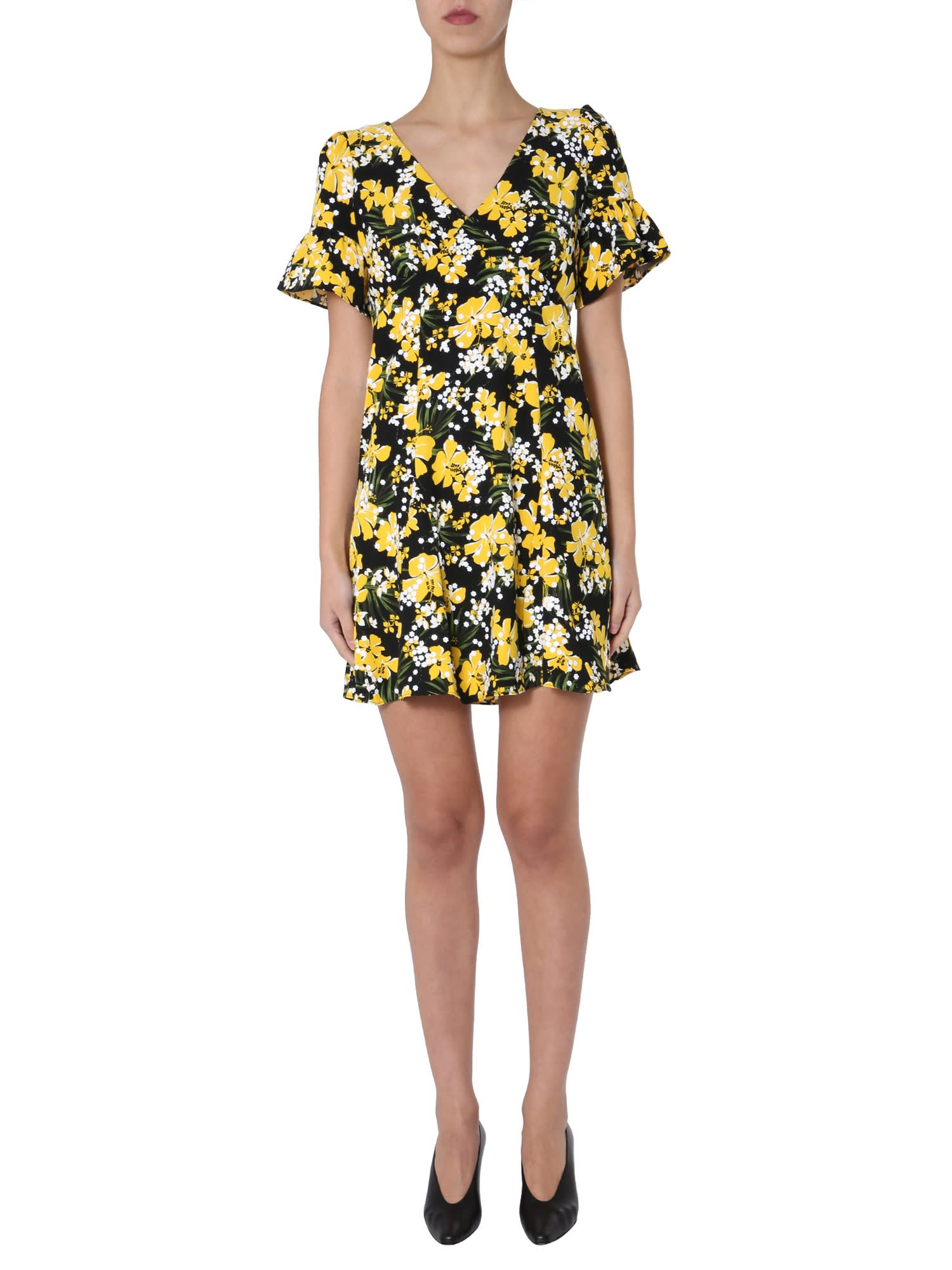 Buy MICHAEL Michael Kors V-neck Dress online, shop MICHAEL Michael Kors with free shipping