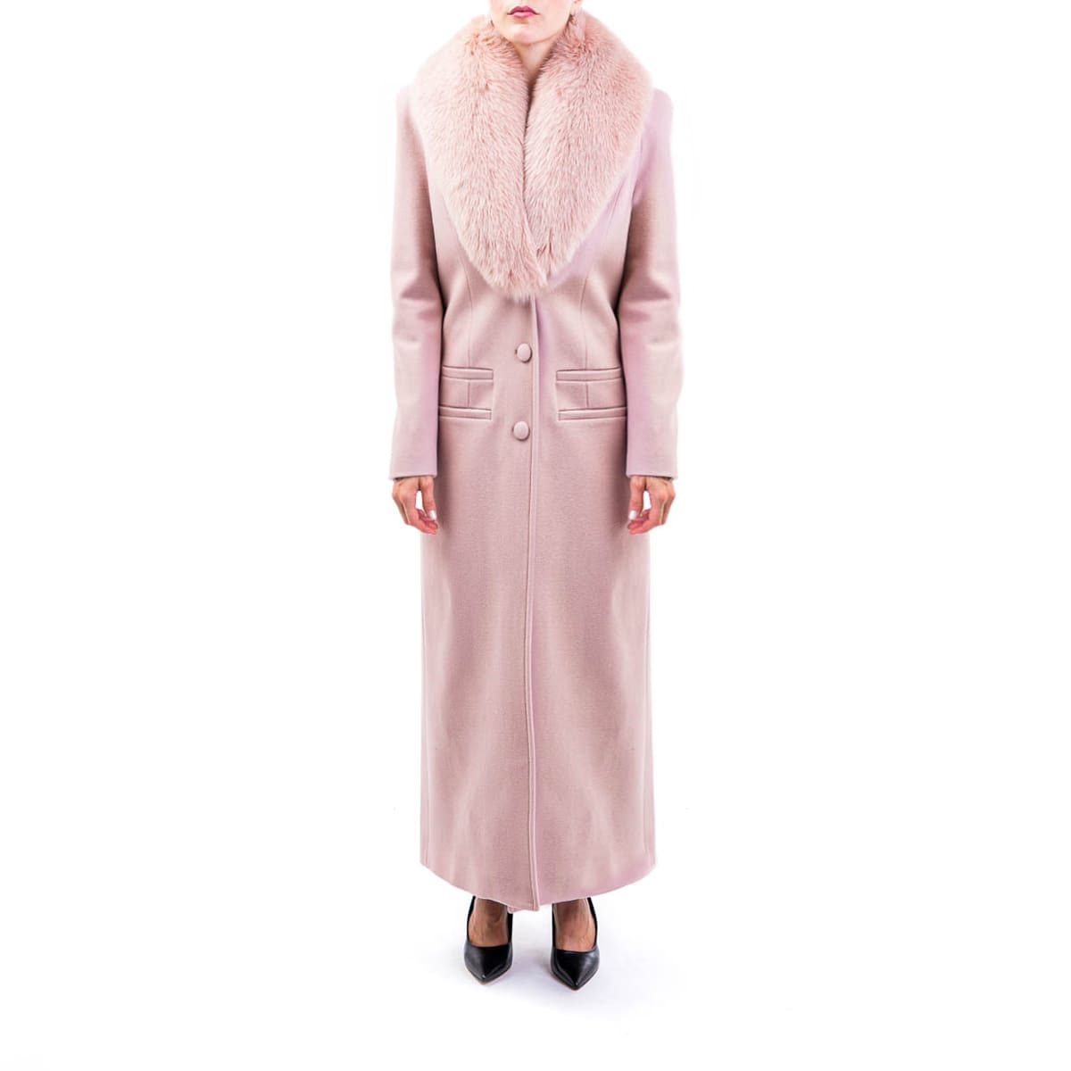 Blumarine Virgin Wool Blend Coat