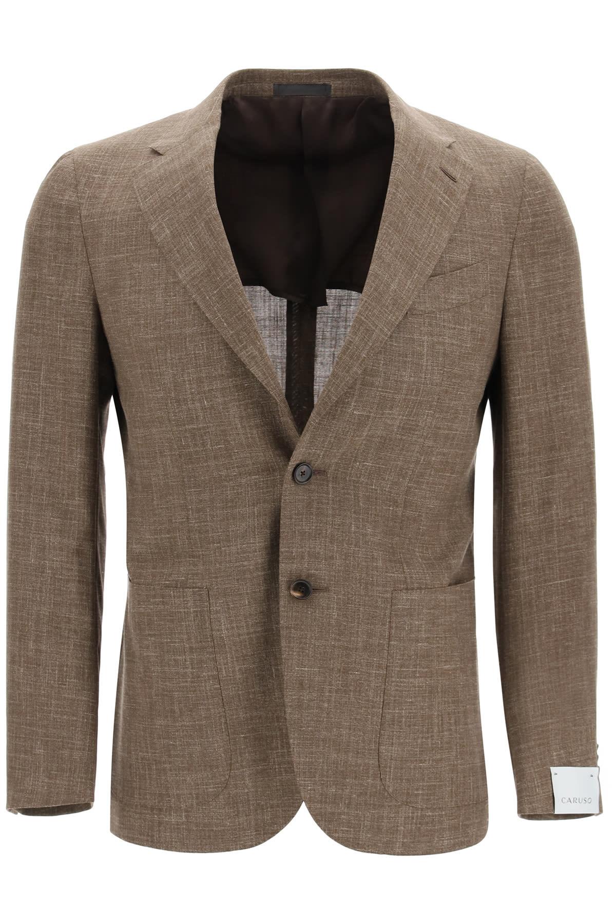Tosca Blazer In Wool Silk And Linen Blend