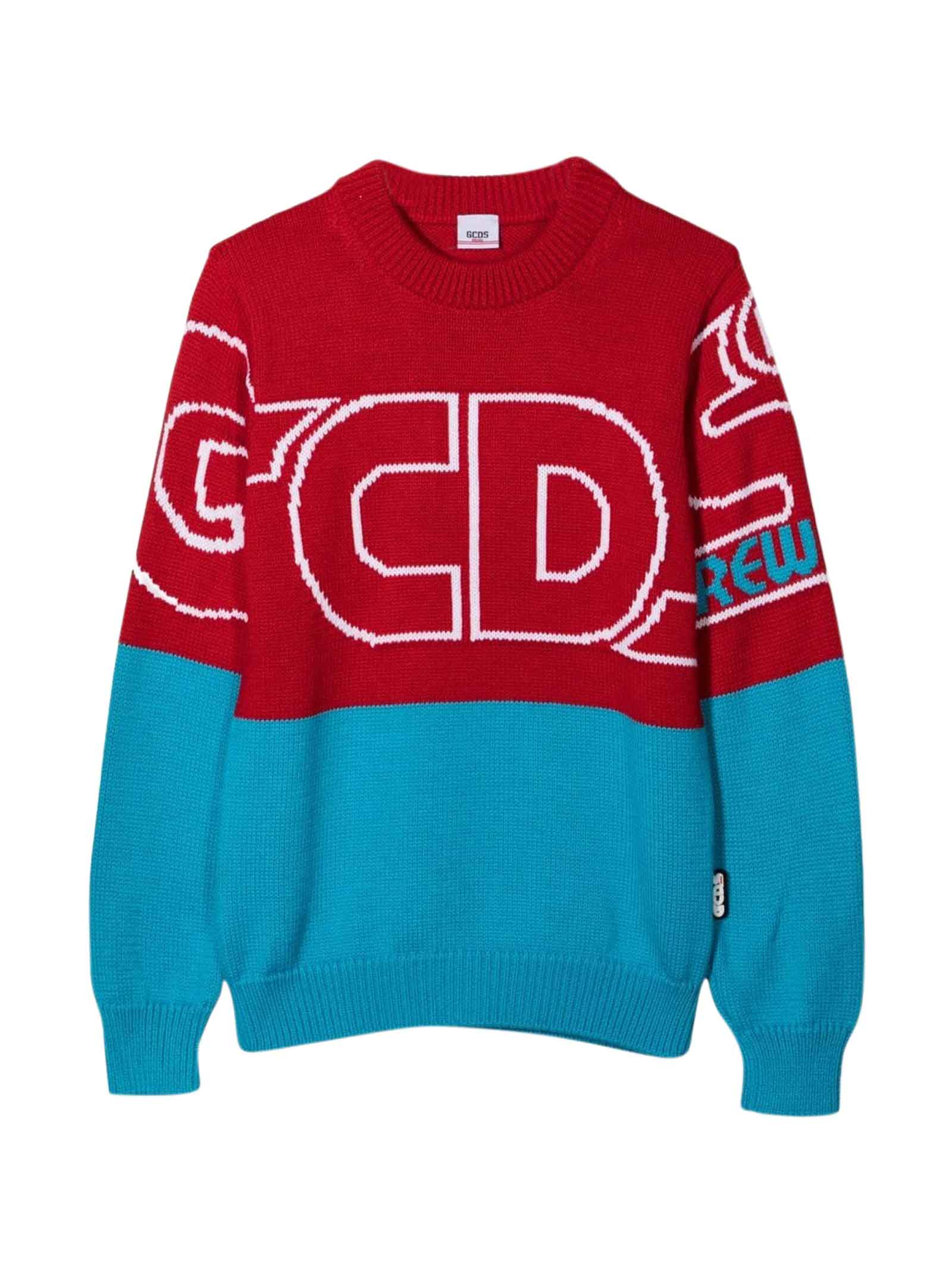 Blue And Red Sweatshirt