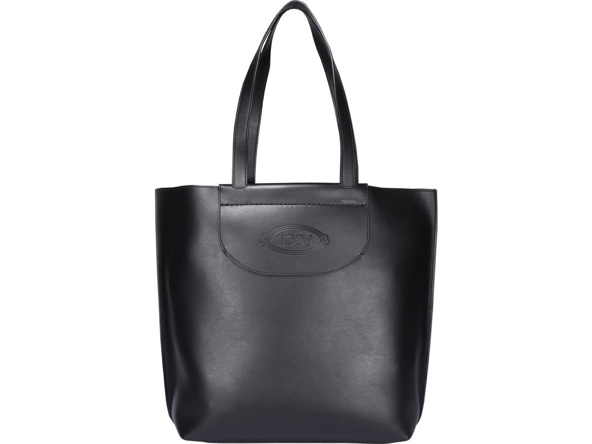 woman shopping bag, medium shopping model, clip closure pocket, logo Composition: 100% Calf Leather