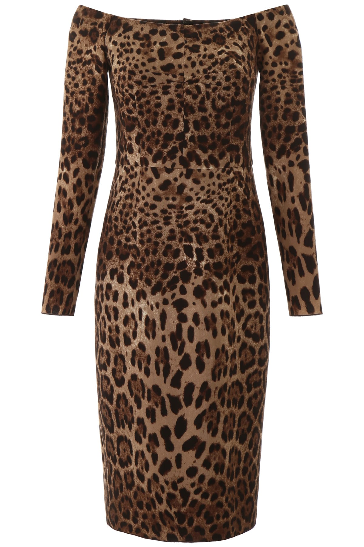 Buy Dolce & Gabbana Animalier Midi Dress online, shop Dolce & Gabbana with free shipping