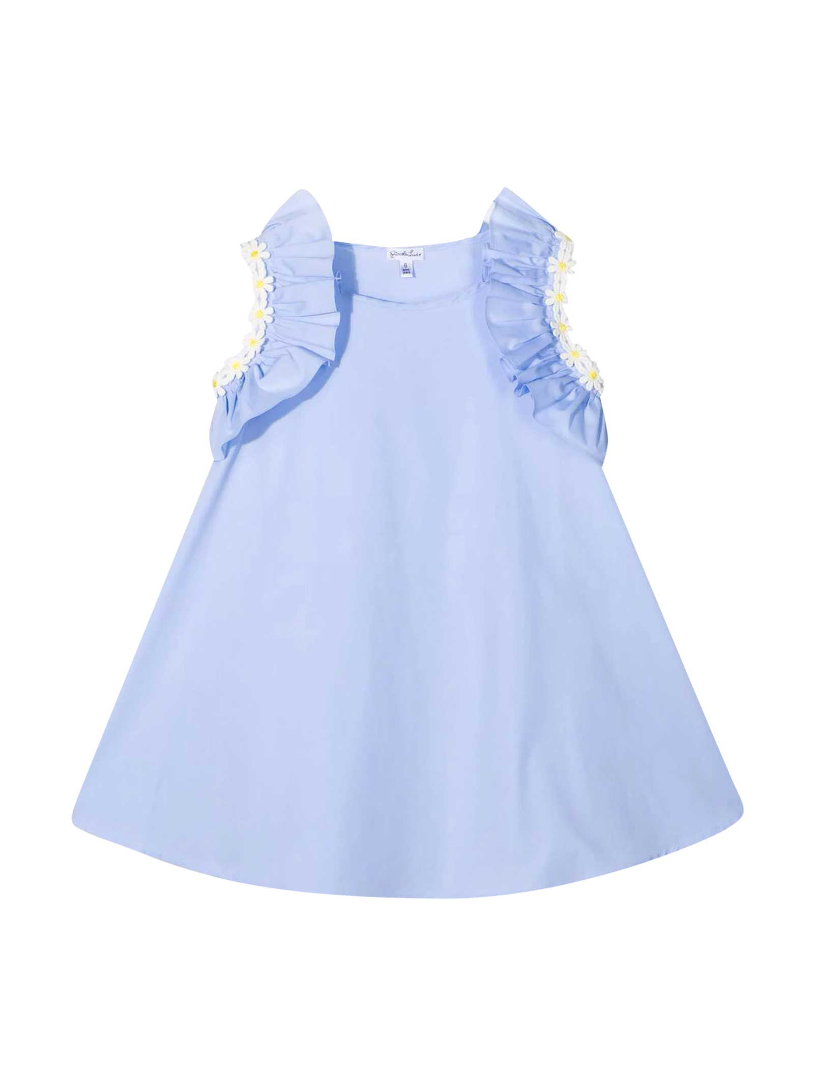 Buy Piccola Ludo Light Blue Dress online, shop Piccola Ludo with free shipping