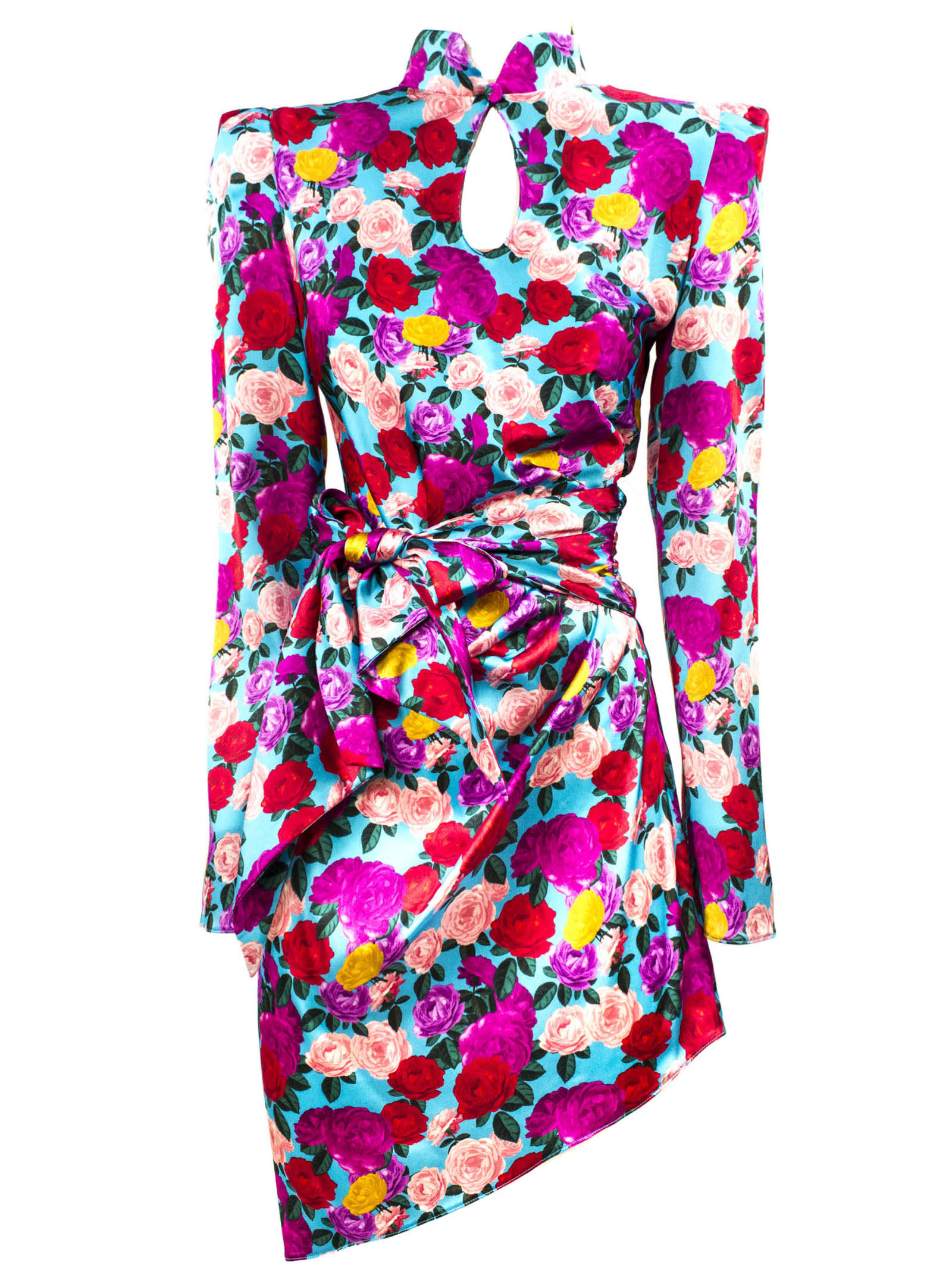 Buy Giuseppe di Morabito Blue Stretch Silk Floral Print Dress online, shop Giuseppe di Morabito with free shipping
