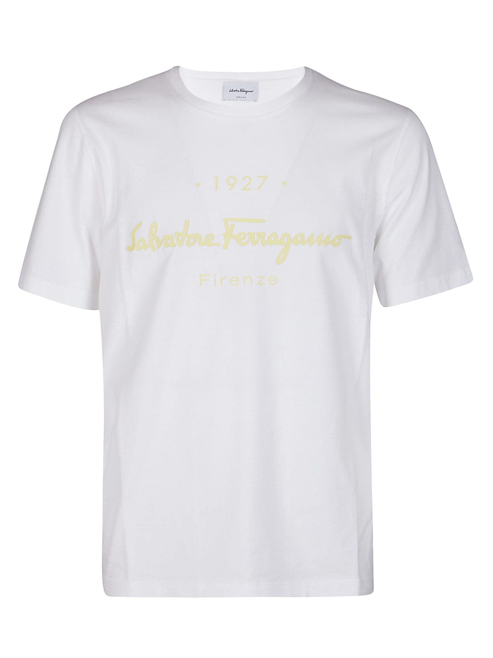 Salvatore Ferragamo Cottons WHITE COTTON T-SHIRT