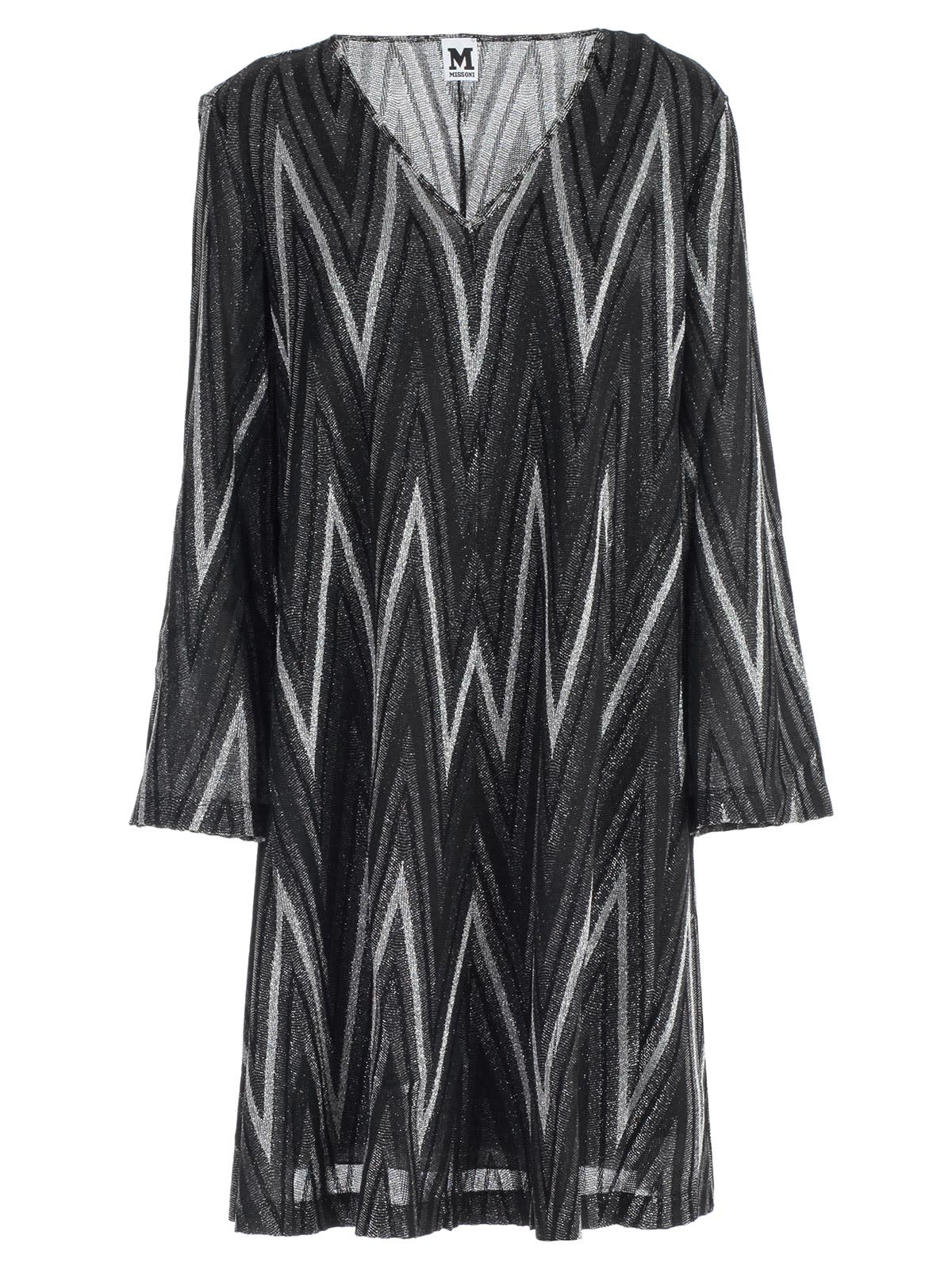 M Missoni Dress L & s Jersey Lurex
