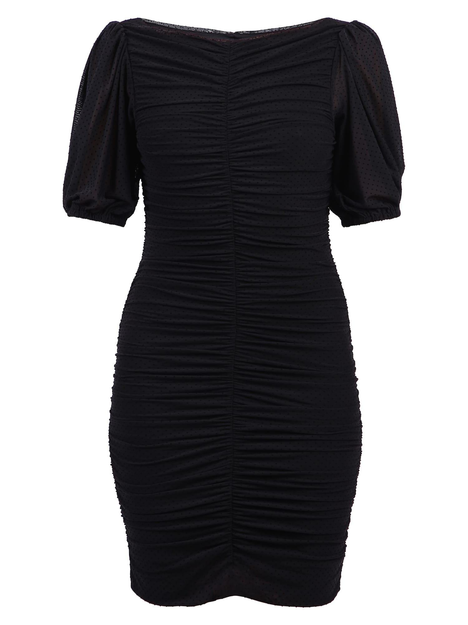 Buy Ganni Ruched Dress online, shop Ganni with free shipping