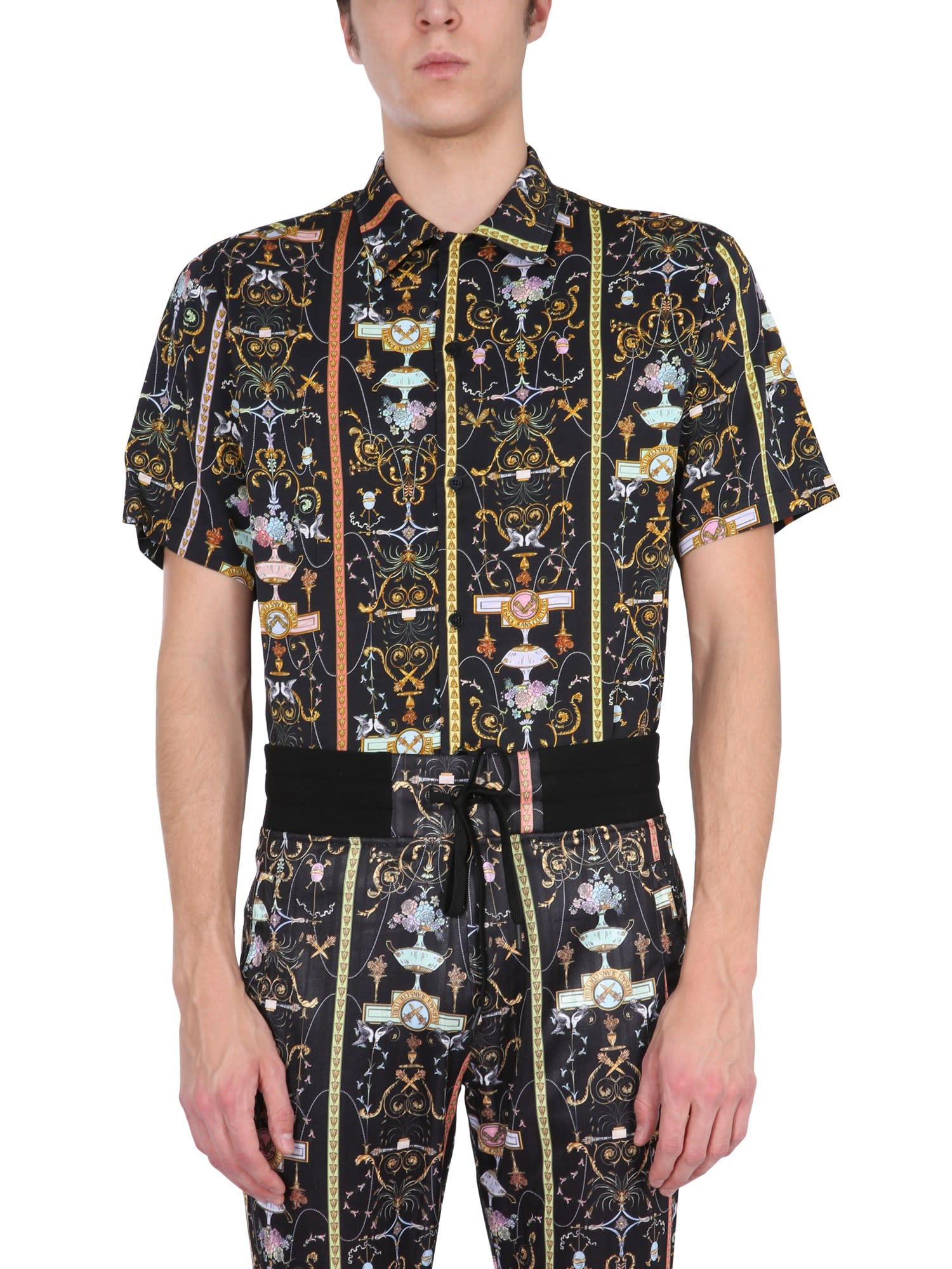 VERSACE JEANS COUTURE SHIRT WITH TULLERIE PRINT