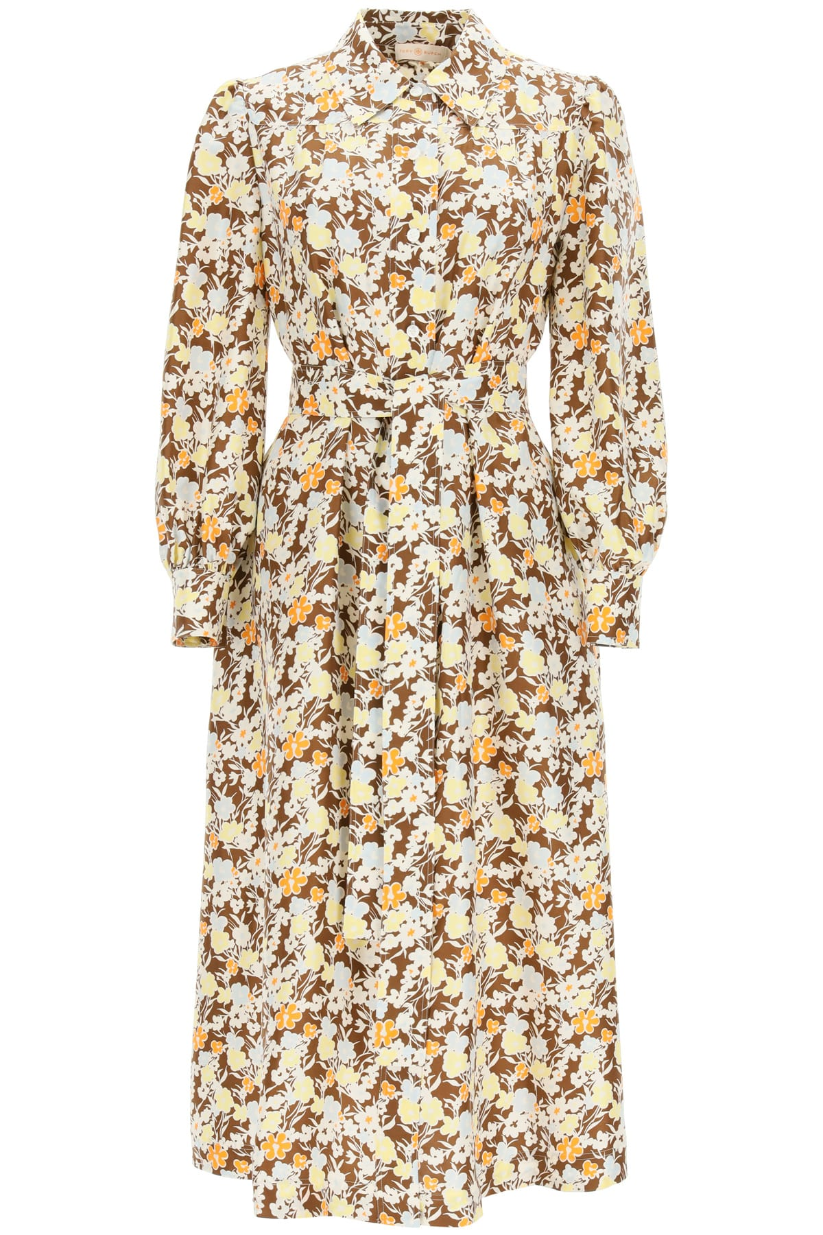 Buy Long Shirt Dress In Floral Silk online, shop Tory Burch with free shipping