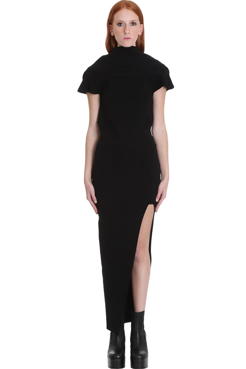 Buy Rick Owens Teresa Dress In Black Viscose online, shop Rick Owens with free shipping