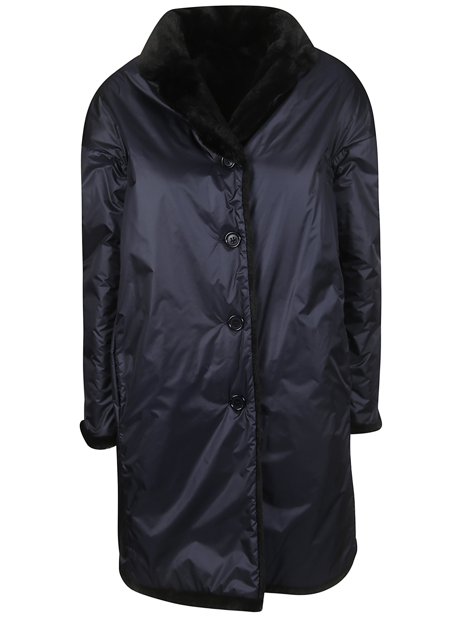 Aspesi Single Breasted Buttoned Reversible Parka
