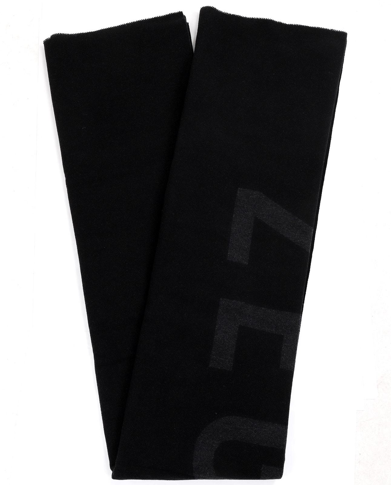 Fear Of God For Zegna Black Logo Blanket Scarf