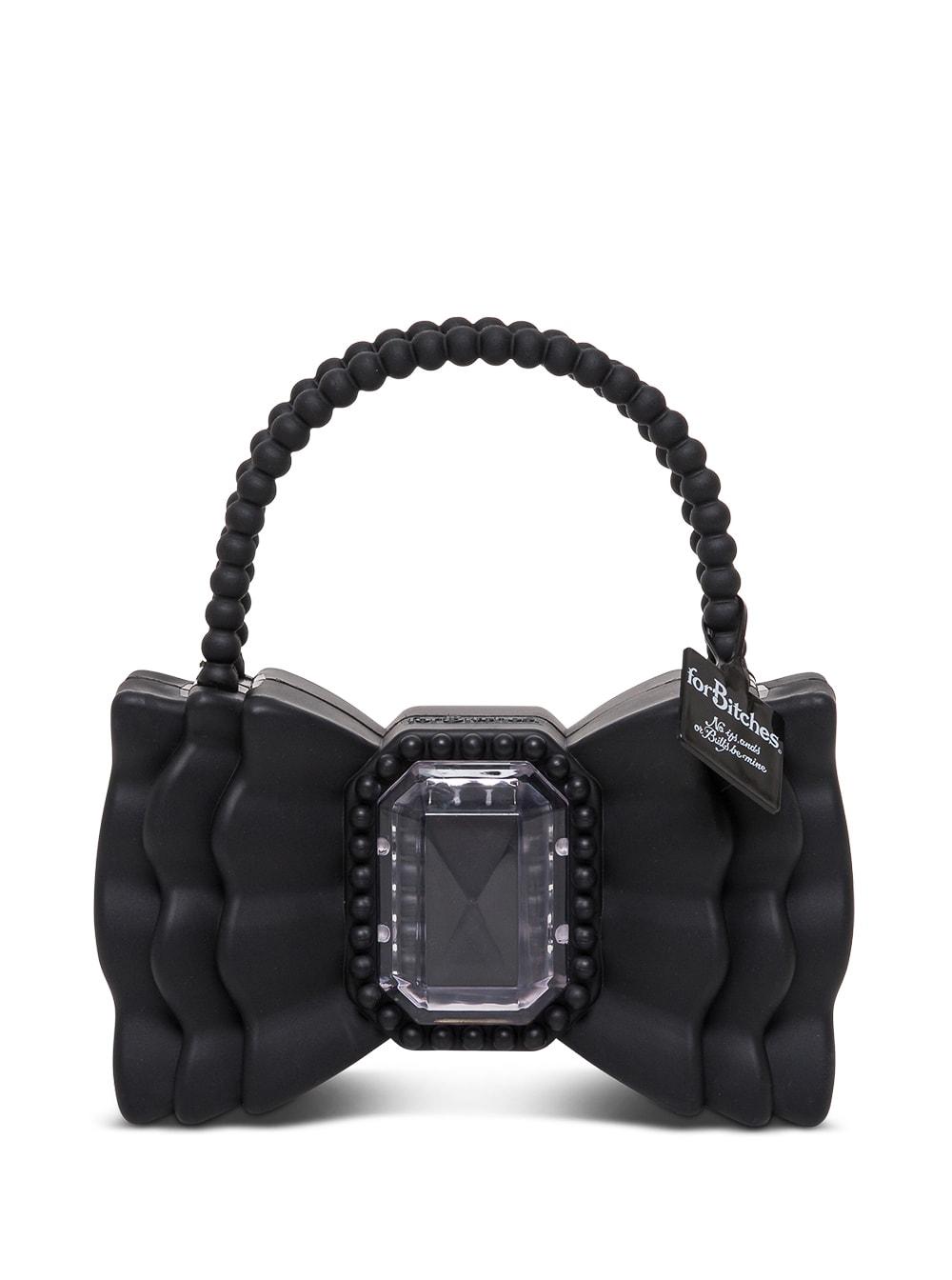 Peewee Bow Black Handbag