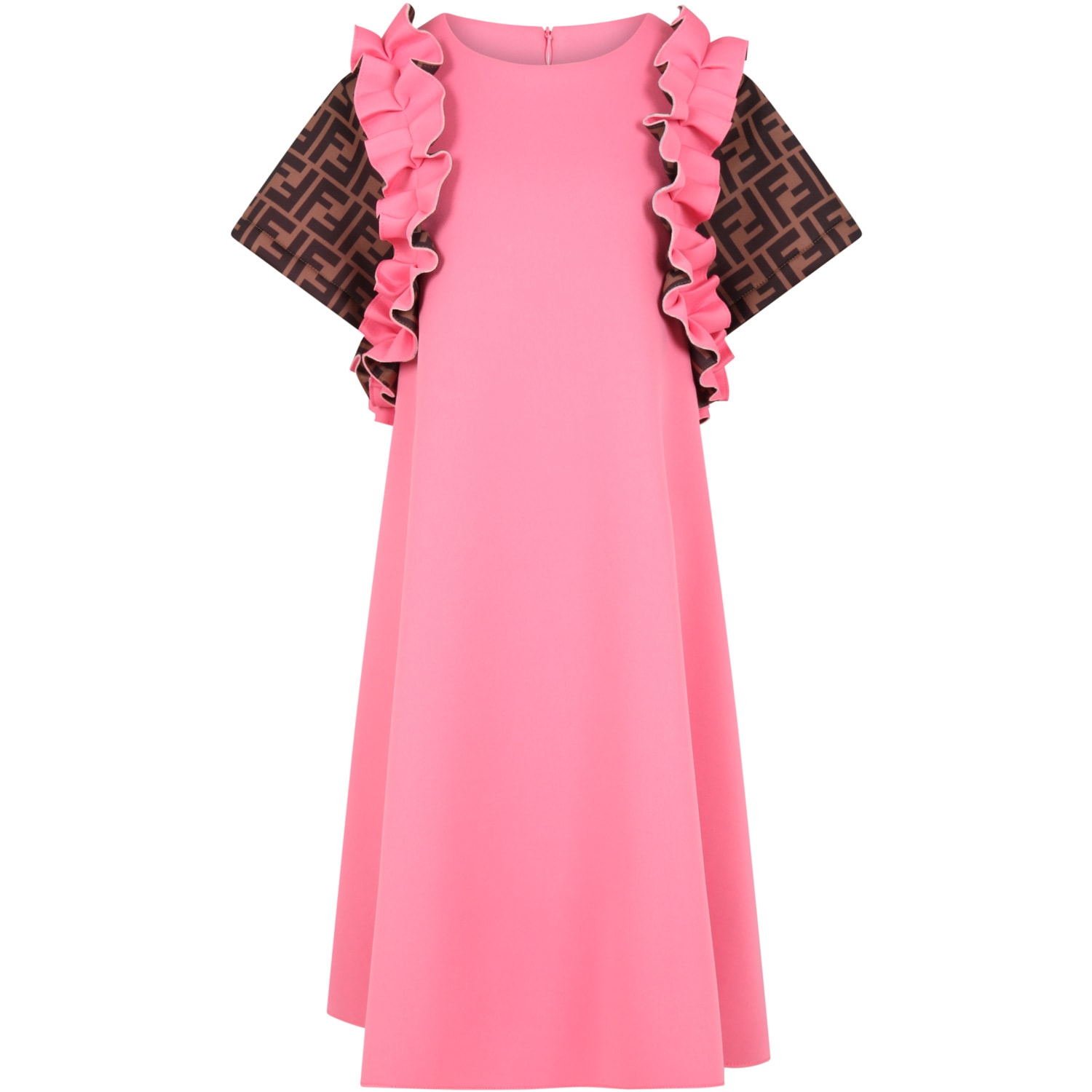 Fendi FUCHSIA DRESS FOR GIRL WITH ICONIC DOUBLE FF