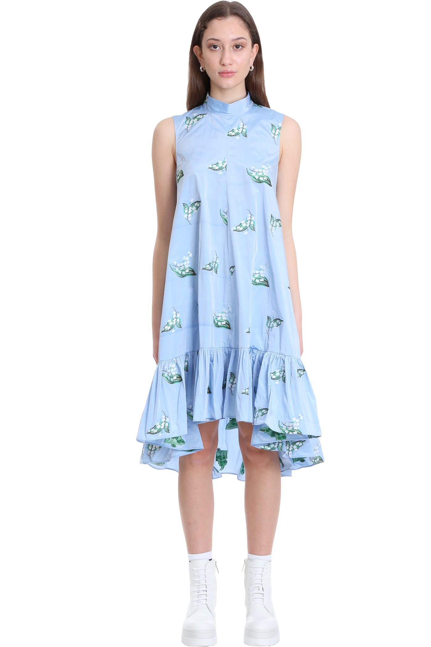 Buy Dress In Cyan Polyester online, shop RED Valentino with free shipping