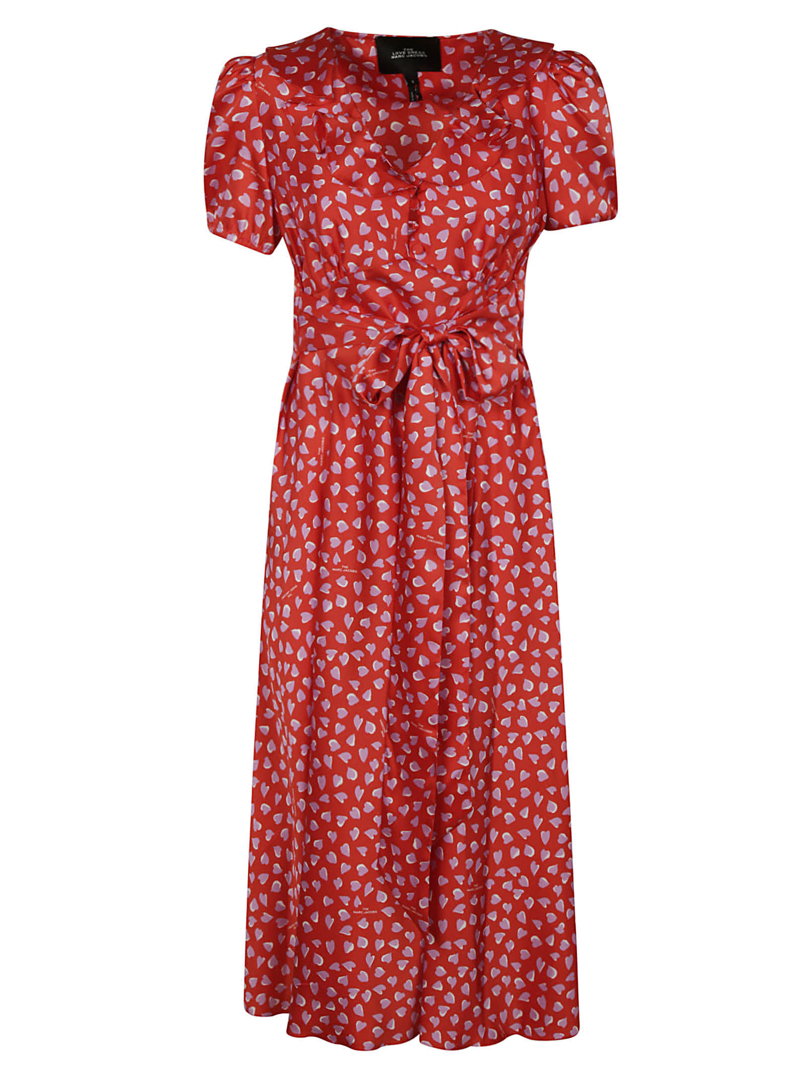Buy Marc Jacobs Heart Print Long Dress online, shop Marc Jacobs with free shipping