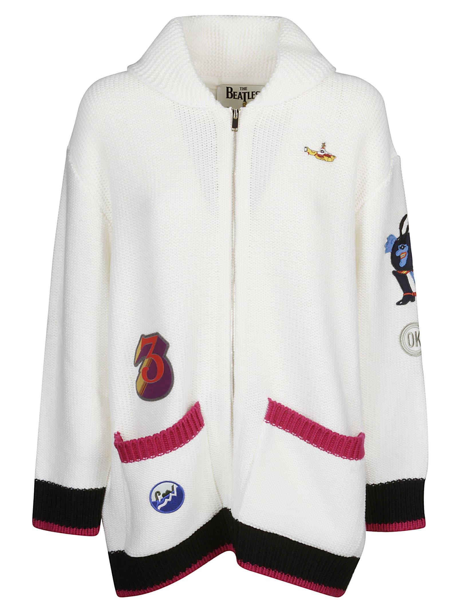c7b43d06dfd Stella McCartney White Zip-up Cardigan