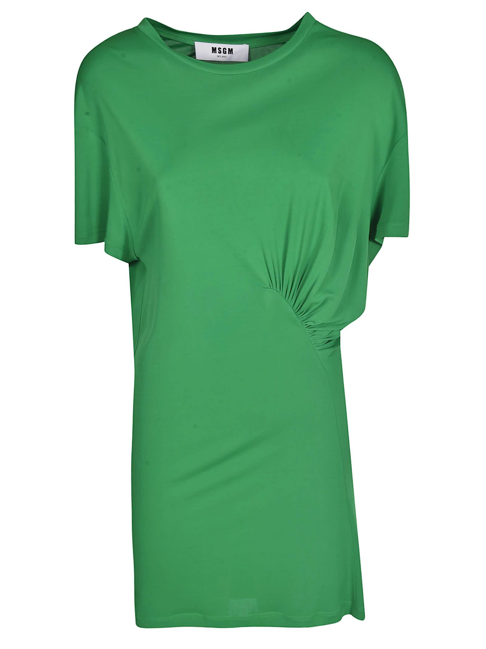 MSGM Gathered T-shirt Dress