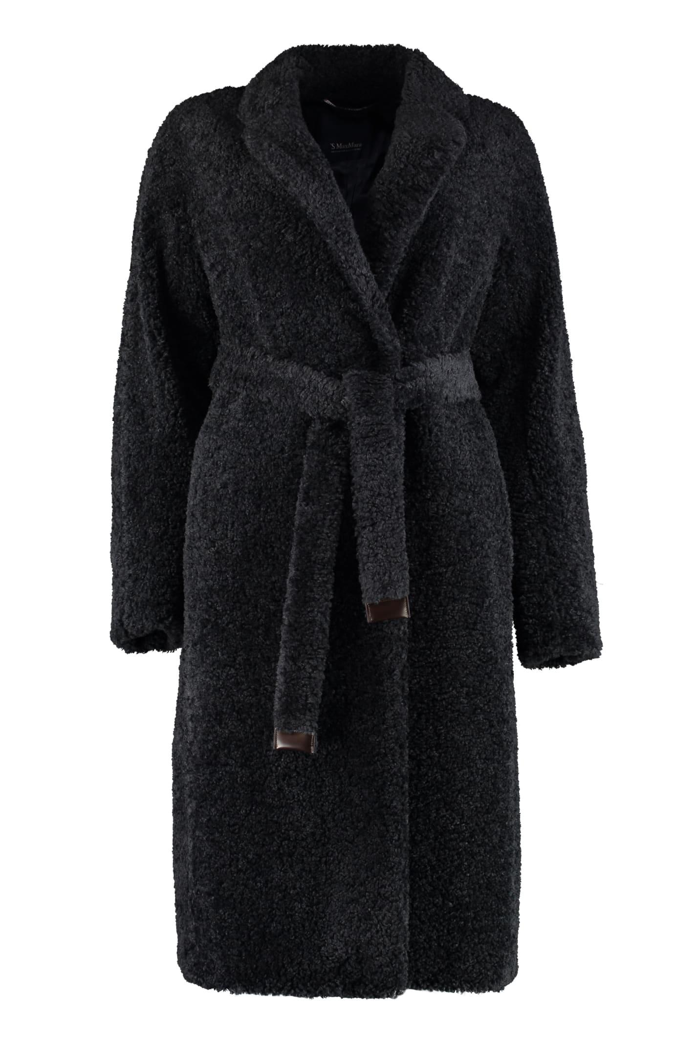 S Max Mara Here is The Cube Agiato Faux Fur Coat