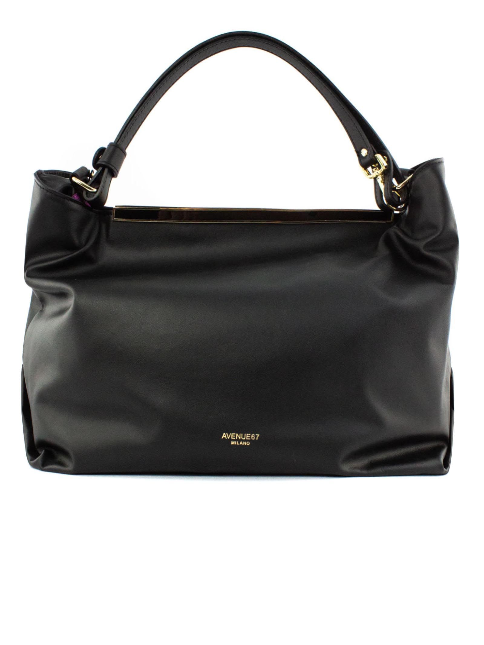 India Shopper In Black Leather