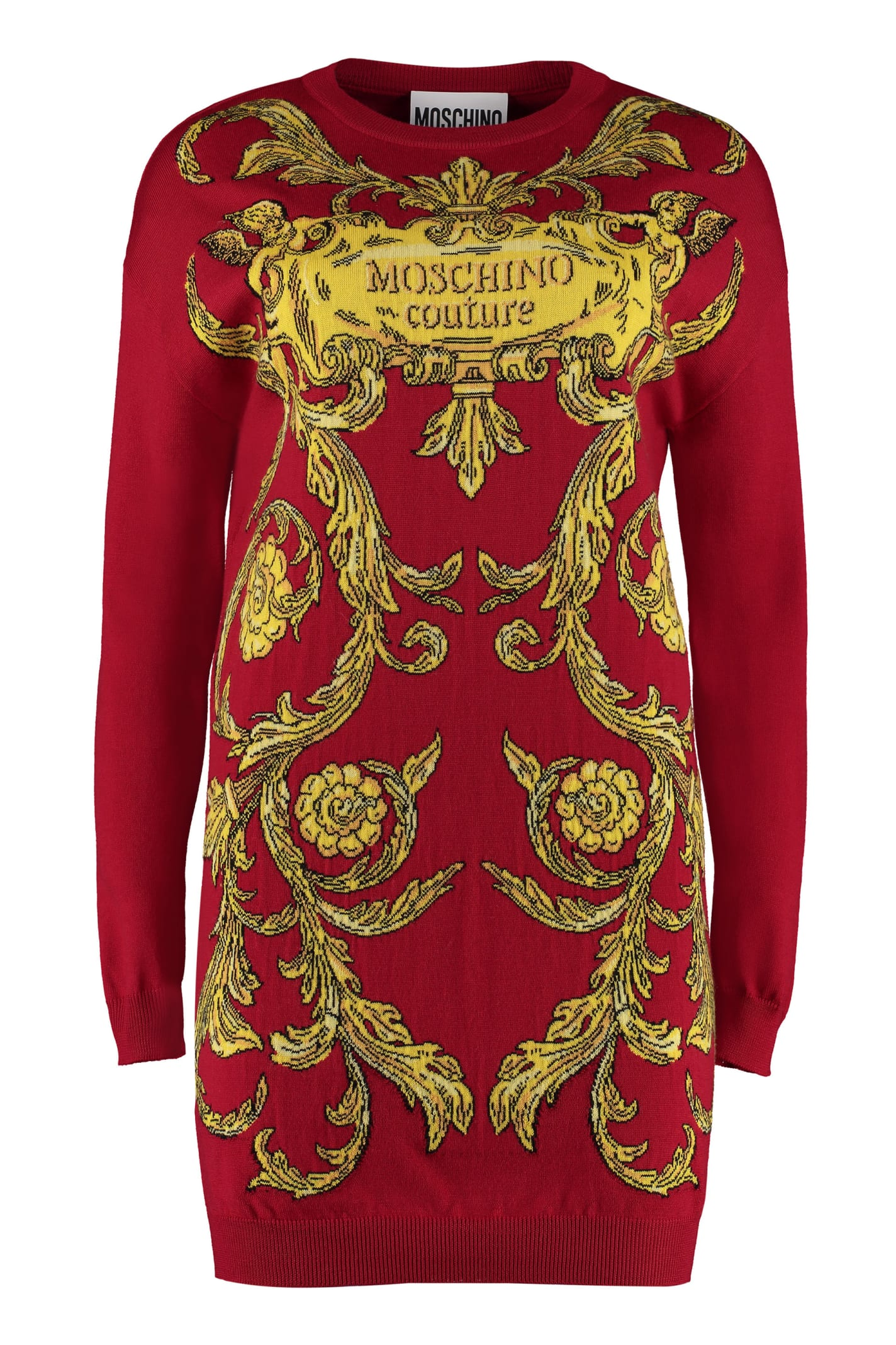 Buy Moschino Intarsia Knit-dress online, shop Moschino with free shipping