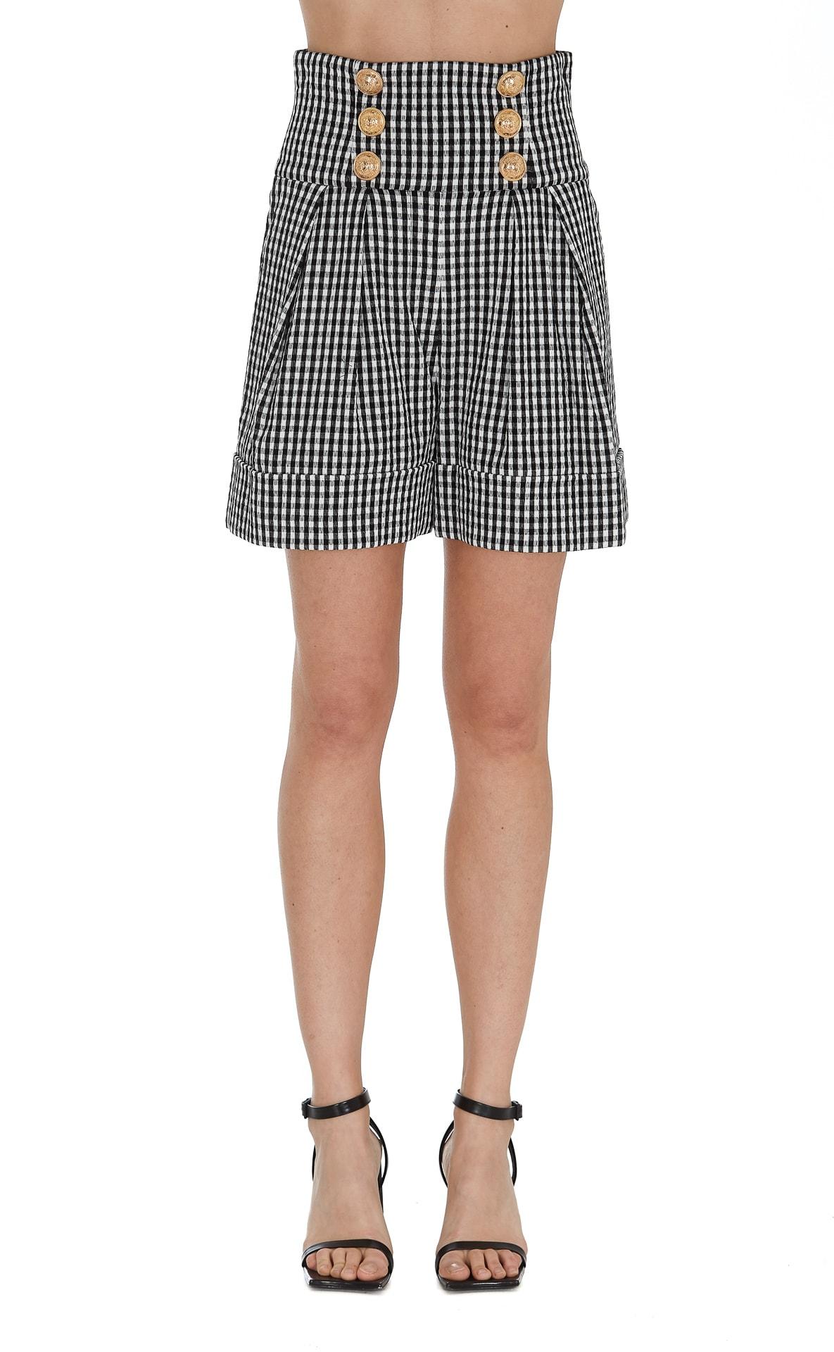Balmain Shorts In Black