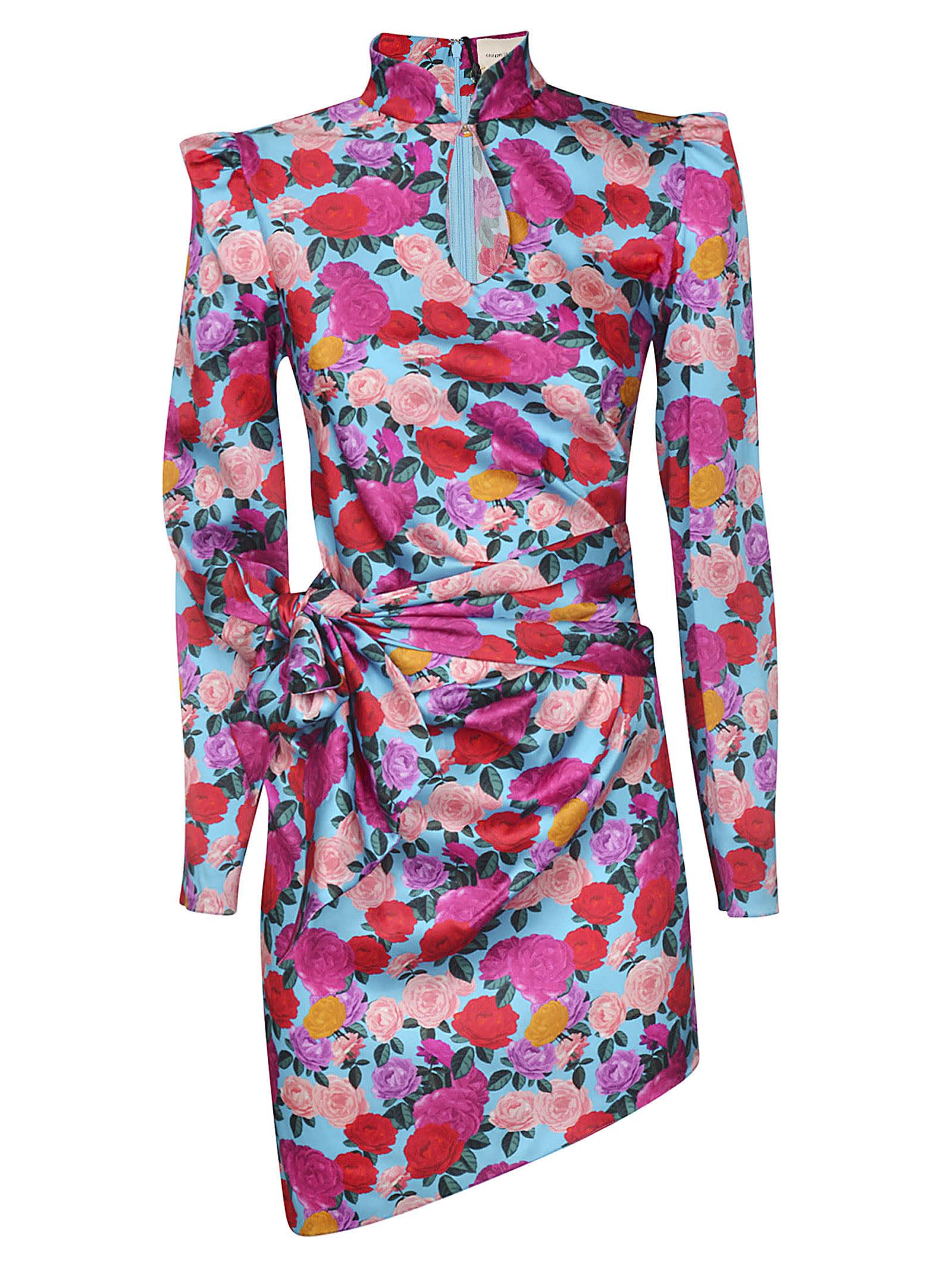 Buy Giuseppe di Morabito Floral Print Asymmetric Dress online, shop Giuseppe di Morabito with free shipping