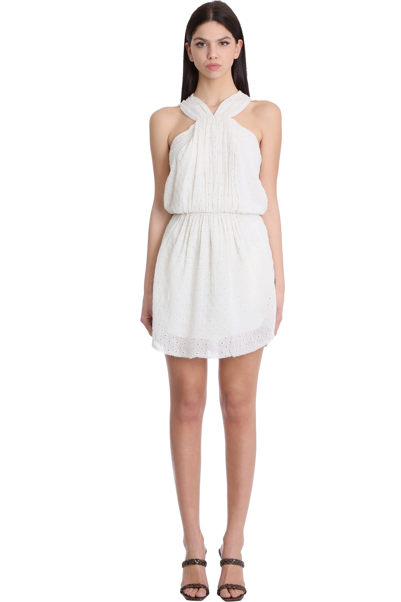 Buy IRO Ibiza Dress In Beige Viscose online, shop IRO with free shipping