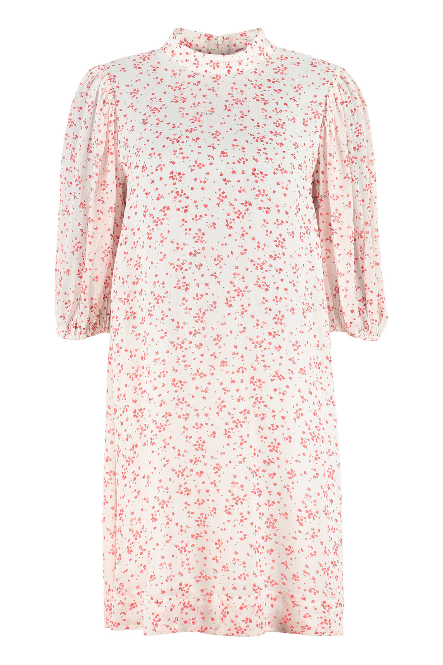 Buy Ganni Printed Georgette Dress online, shop Ganni with free shipping