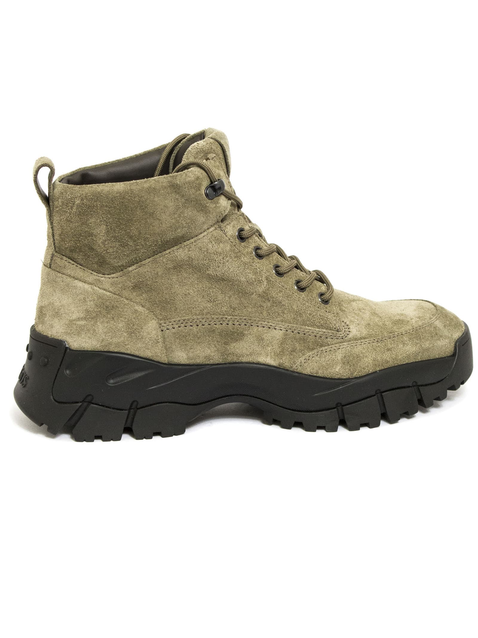 Tods Beige Suede Trekking Style Ankle Boots