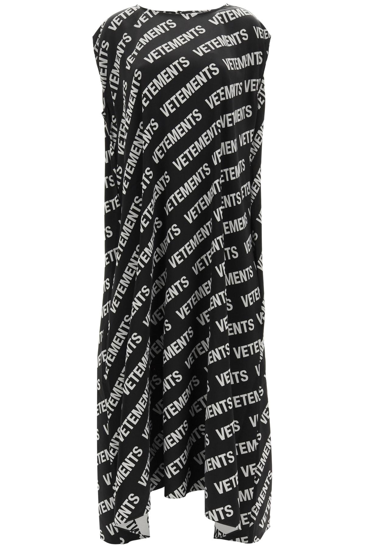 Vetements Clothing LONG MONOGRAM DRESS