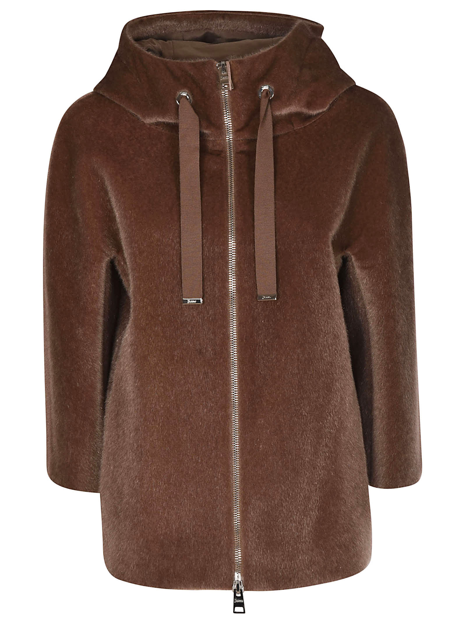 Herno Fur Pattern Hooded Jacket