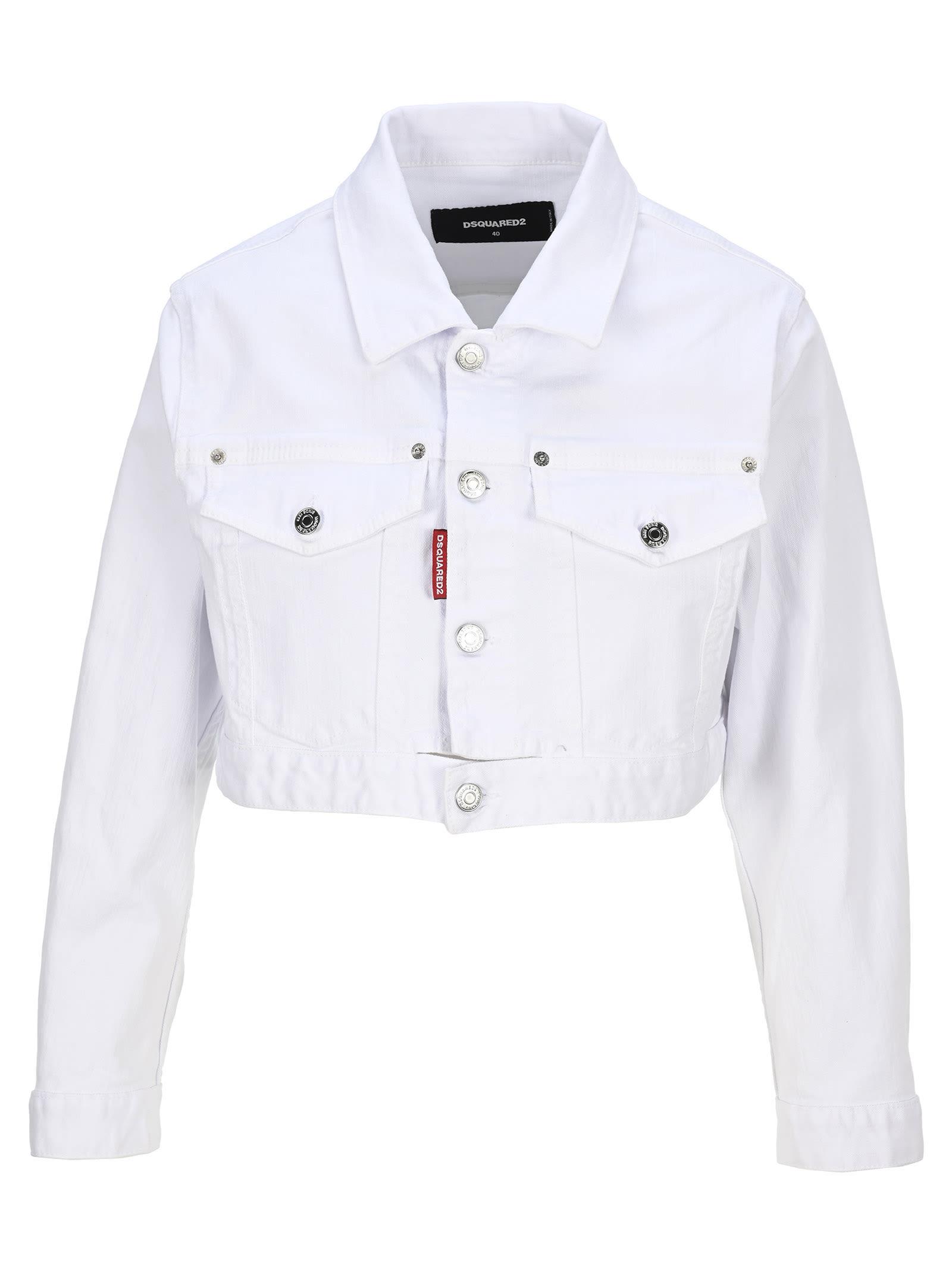 D Squared Cropped Denim Jacket