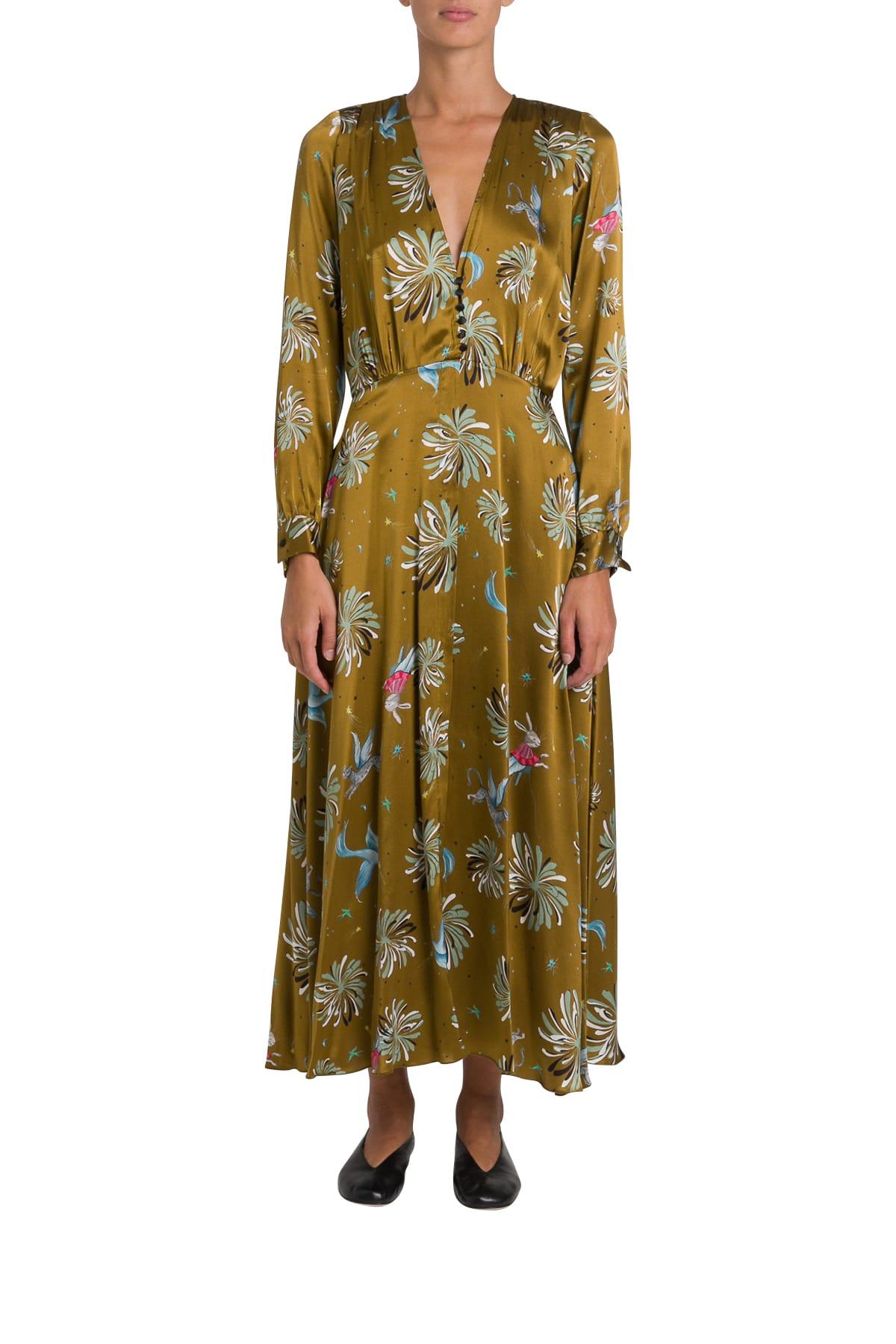 Forte Forte Printed Silk Long Dress