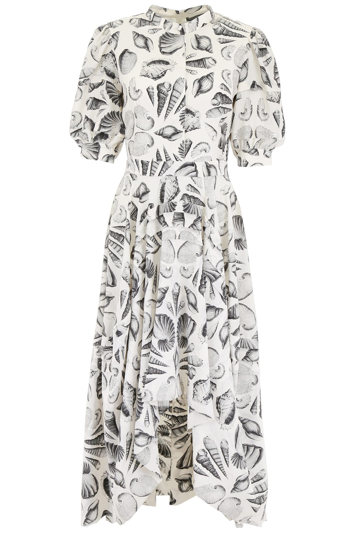 Buy Alexander McQueen Shell Print Dress online, shop Alexander McQueen with free shipping