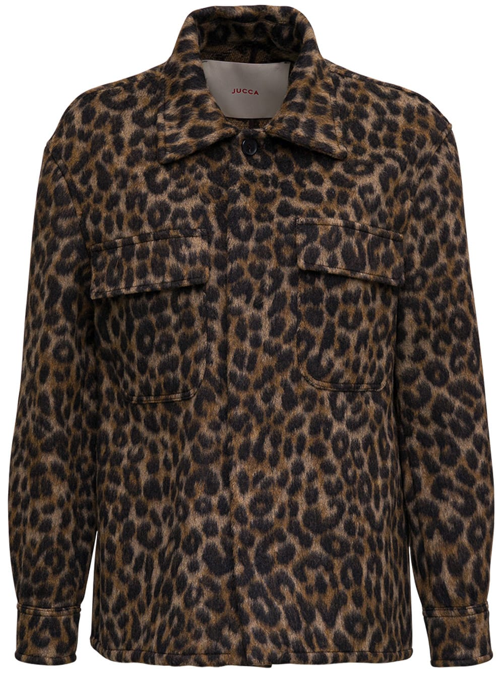 Jucca Animalier Printed Shirt With Pockets