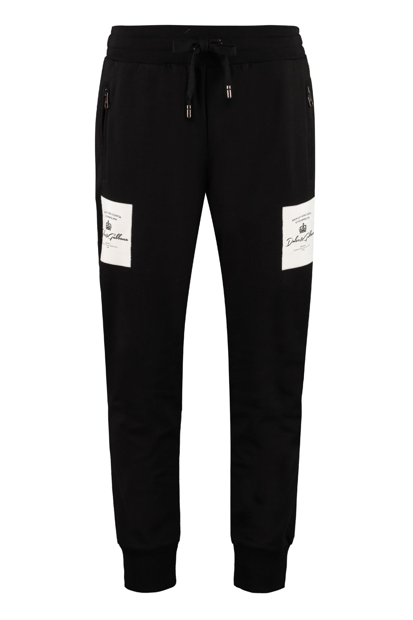 Dolce & Gabbana Logo Patch Sweatpants