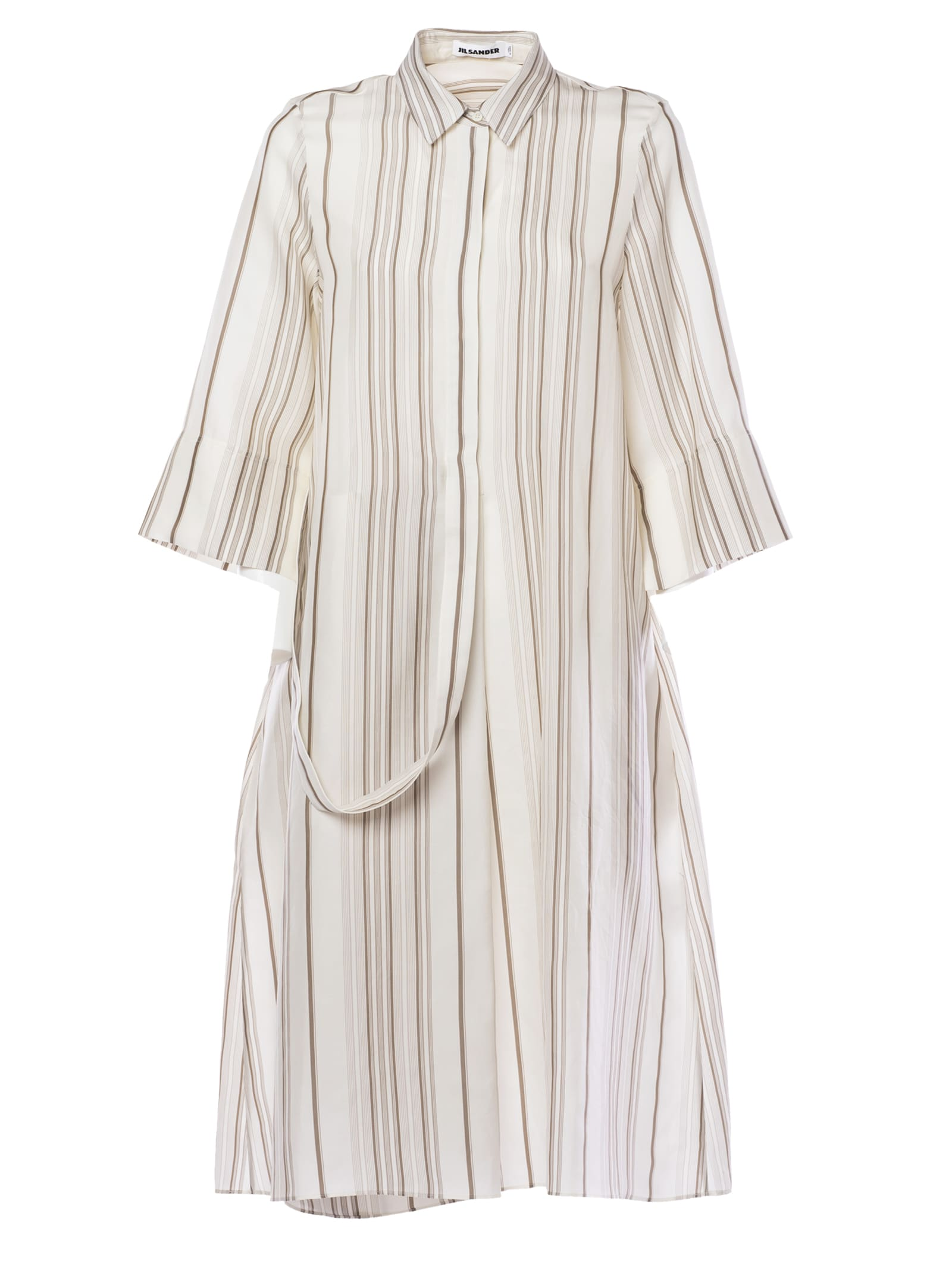 Jil Sander Striped Shirt Dress