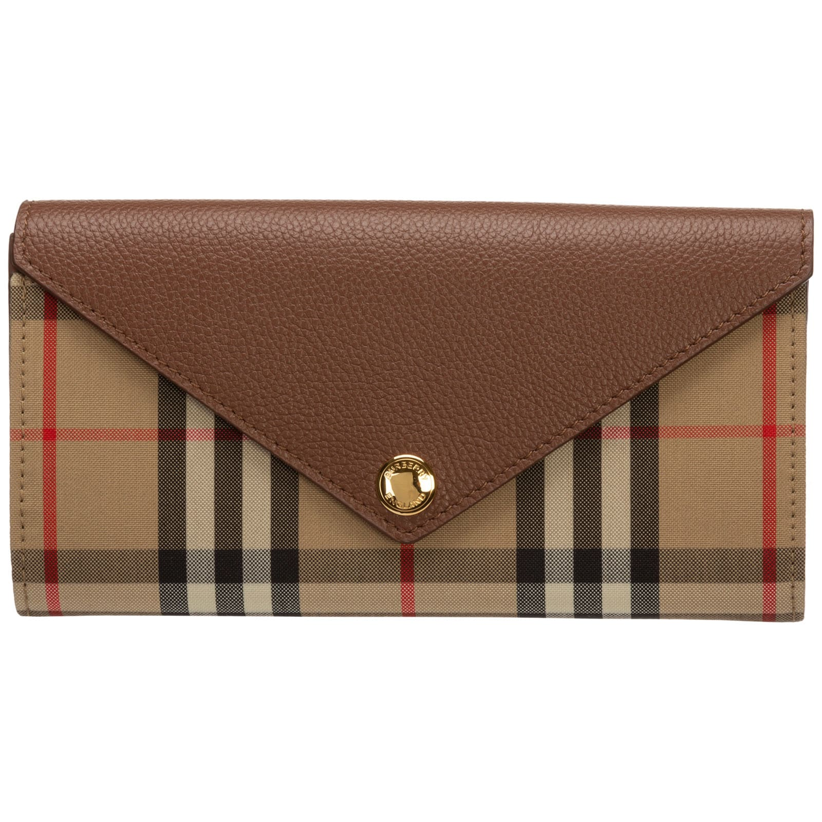 Burberry Camera Wallet In Marrone