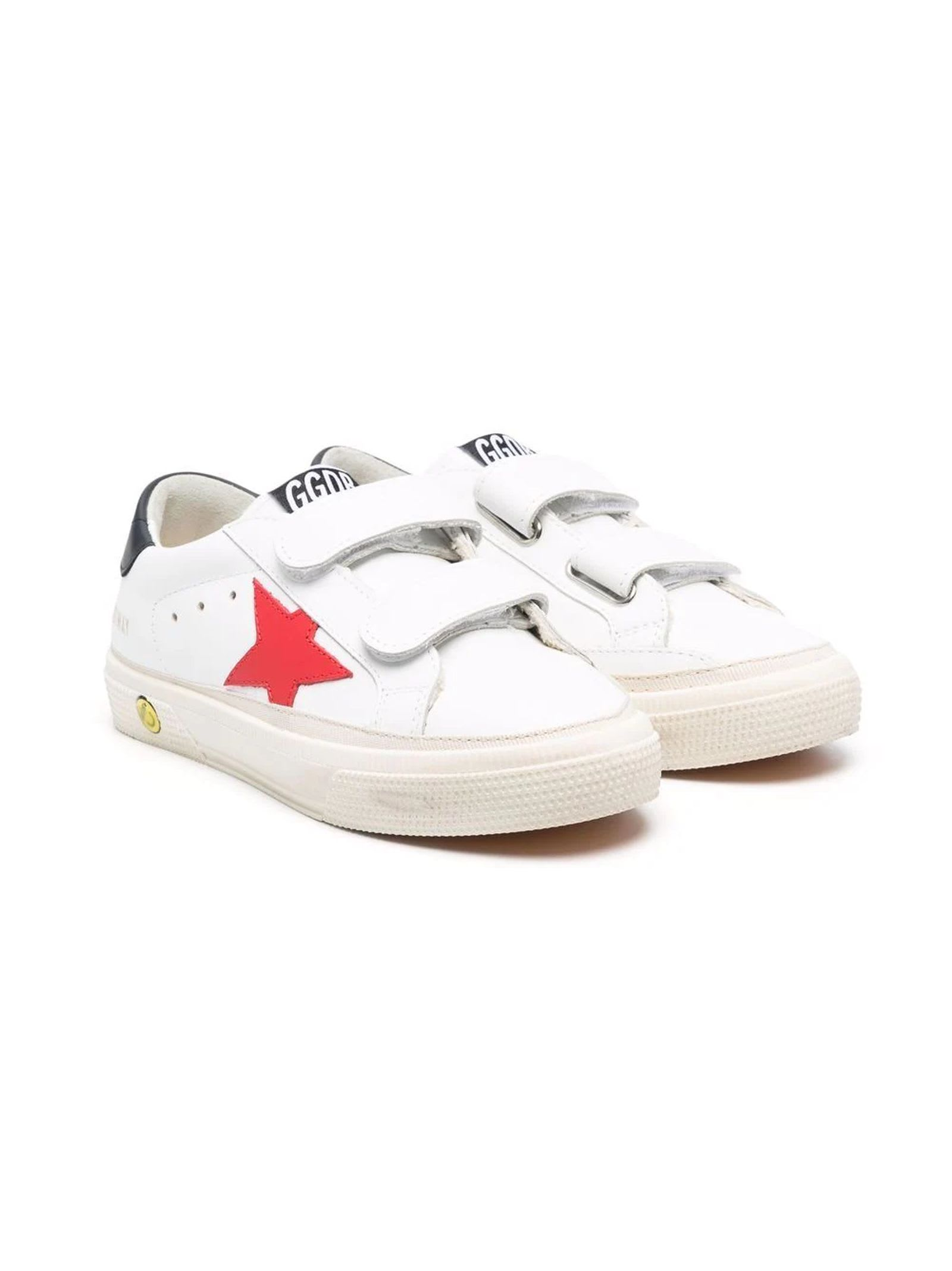 Golden Goose White Leather Old School Sneakers