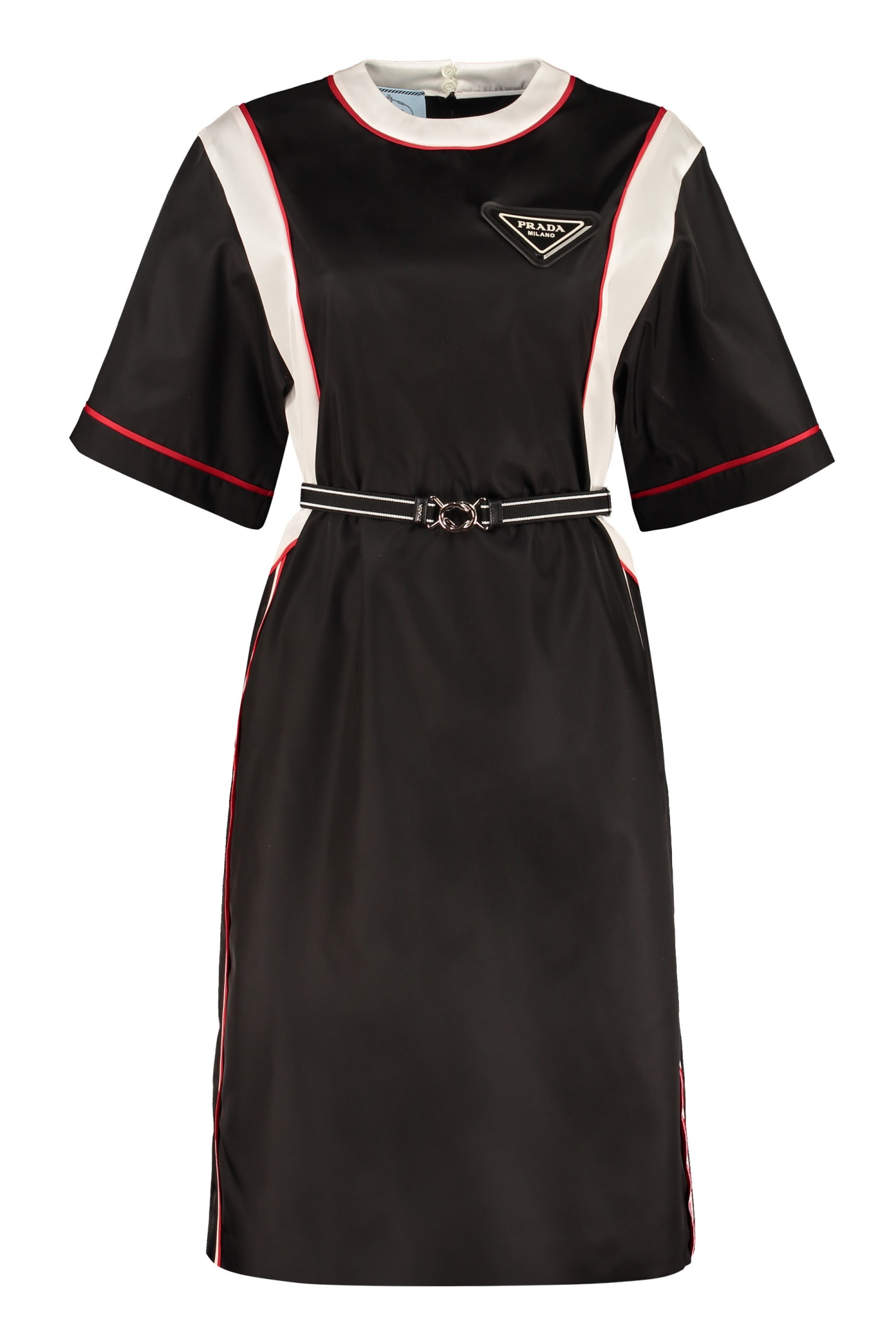Prada Belted Nylon Dress