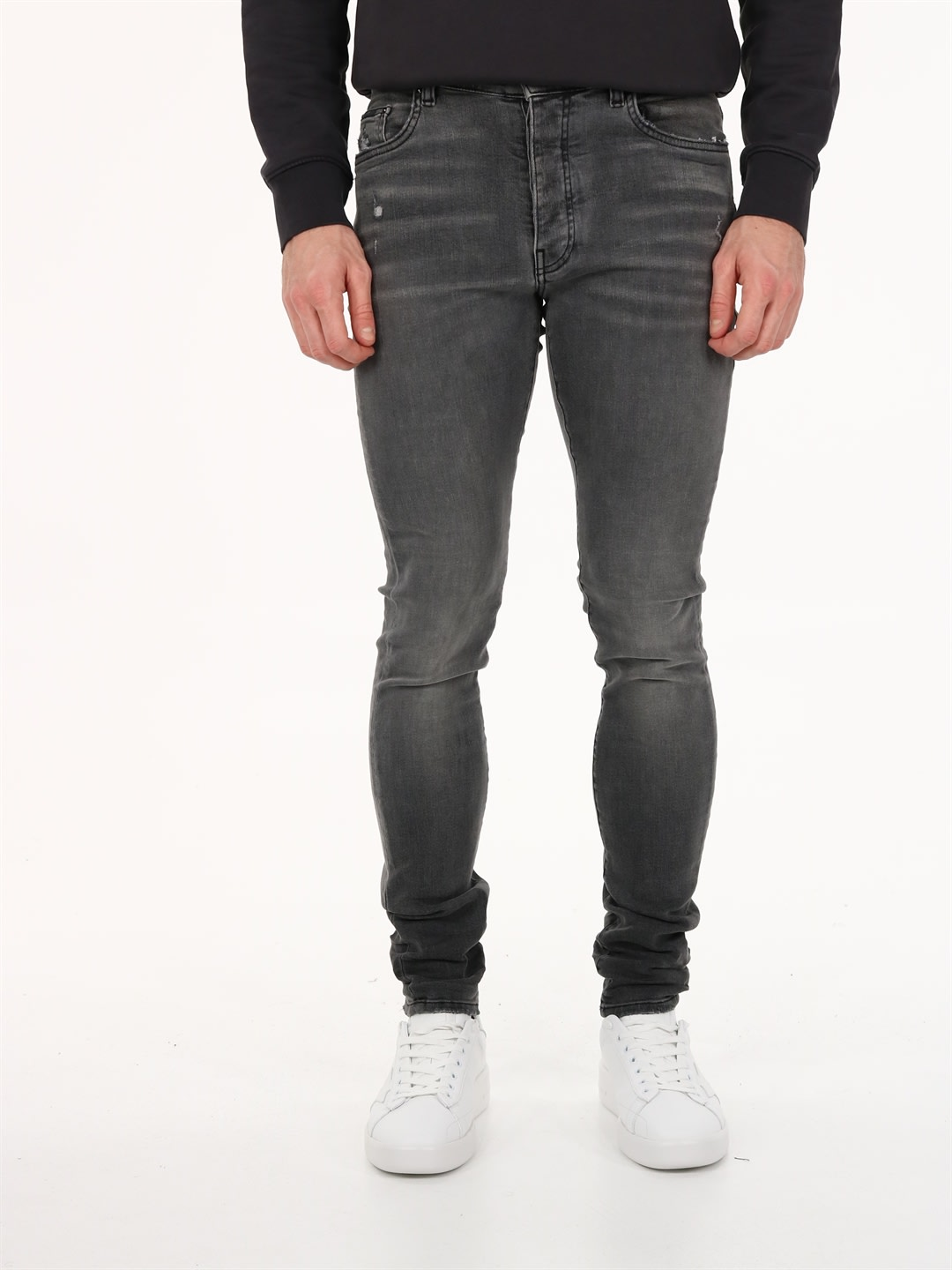 Amiri Denims SLIM JEANS IN GRAY DENIM