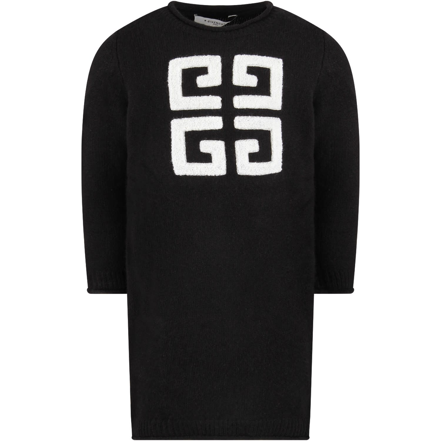 Buy Givenchy Black Girl Dress With Black Vintage Logo online, shop Givenchy with free shipping