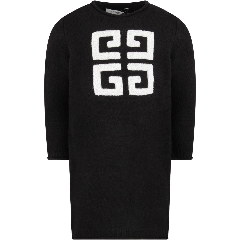 Givenchy Black Girl Dress With Black Vintage Logo
